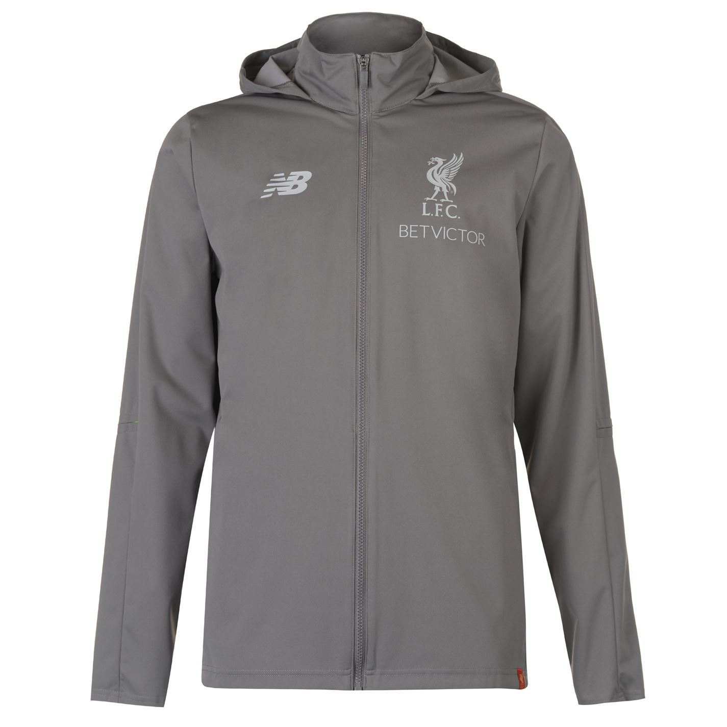 2aa9ea395cbb1 This Mens New Balance Liverpool Rain Jacket 2018 2019 will keep you going  even when the weather is not ideal thanks to the PU finish which ...