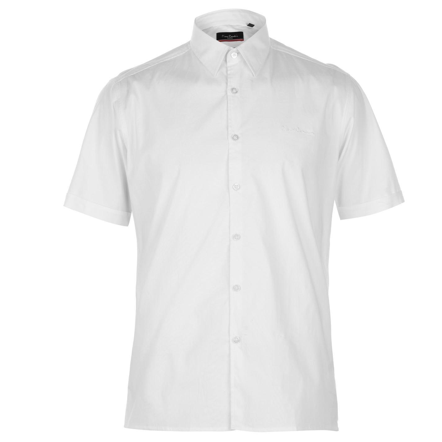 Pierre-Cardin-Mens-Slim-Fit-Short-Sleeve-Shirt-Casual