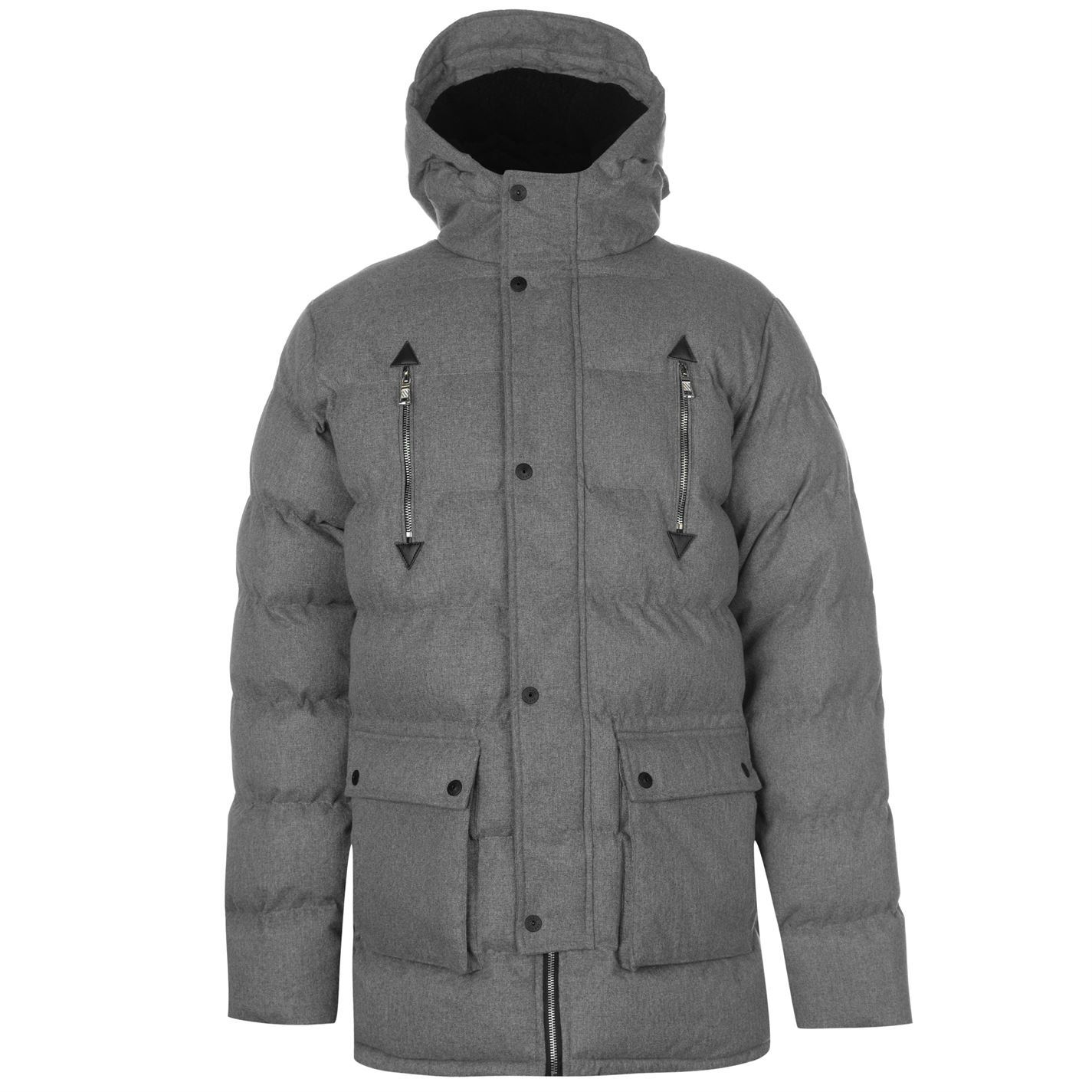 Details about Fabric Mens Texture Jacket Padded Coat Top Hooded Zip Full  Insulated Winter 7c7c8122c664
