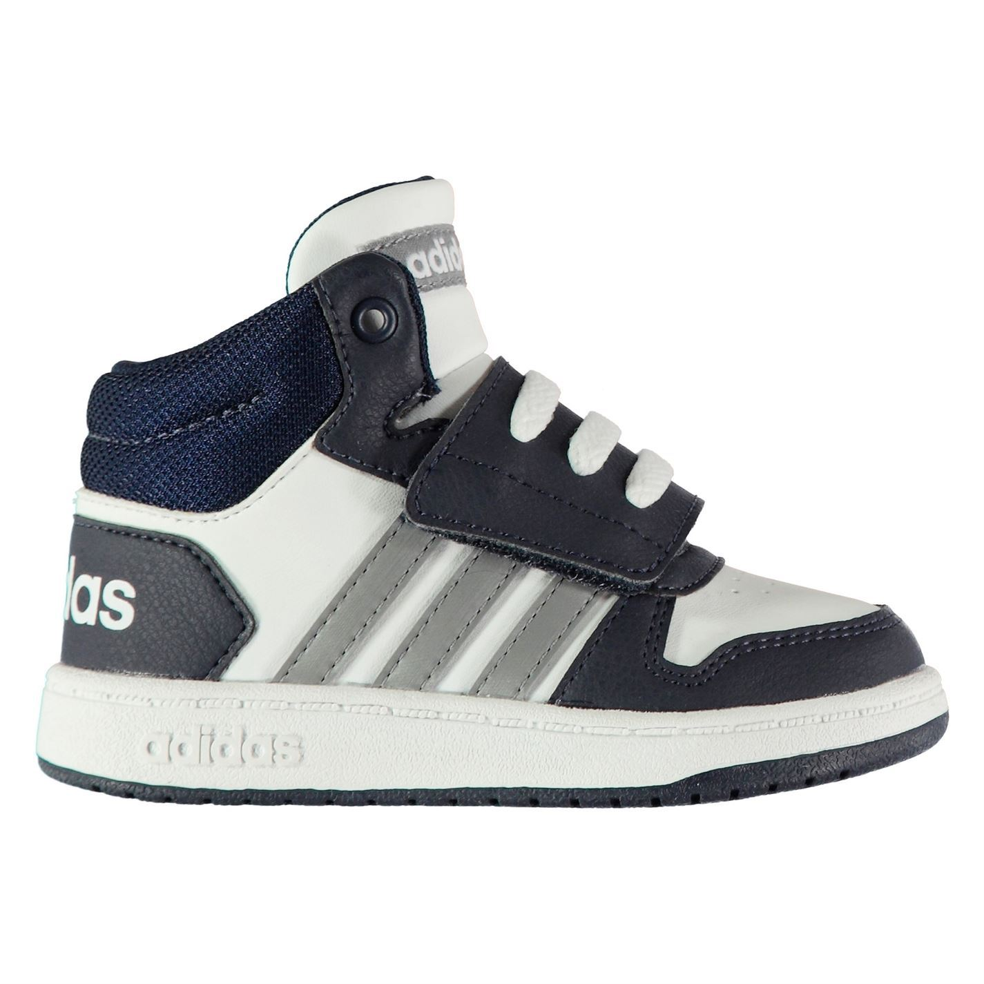 4622c383e74b The adidas Hoops Trainers feature a retro inspired mid cut ankle offering  added support and comfort