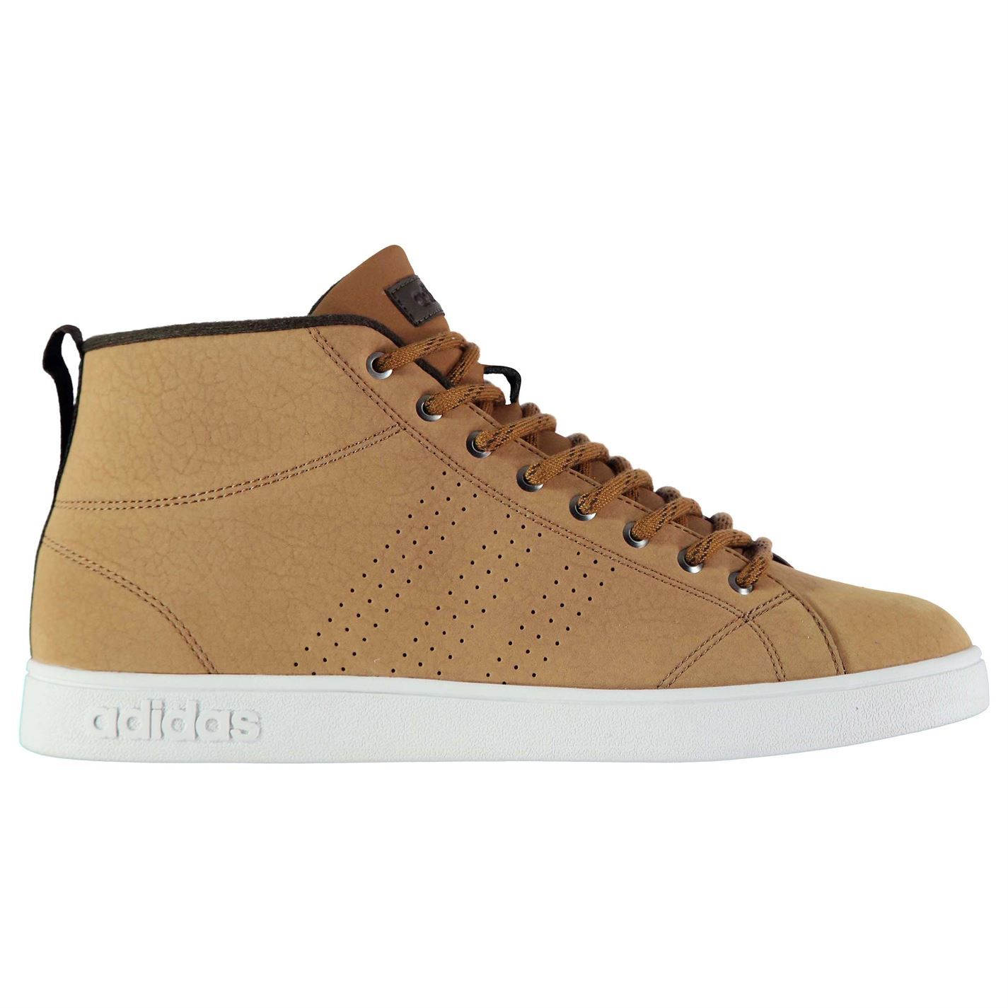 Adidas  Advantage Mid Nubuck Sneakers  Adidas Uomo Gents High Top Laces Fastened Padded 553463