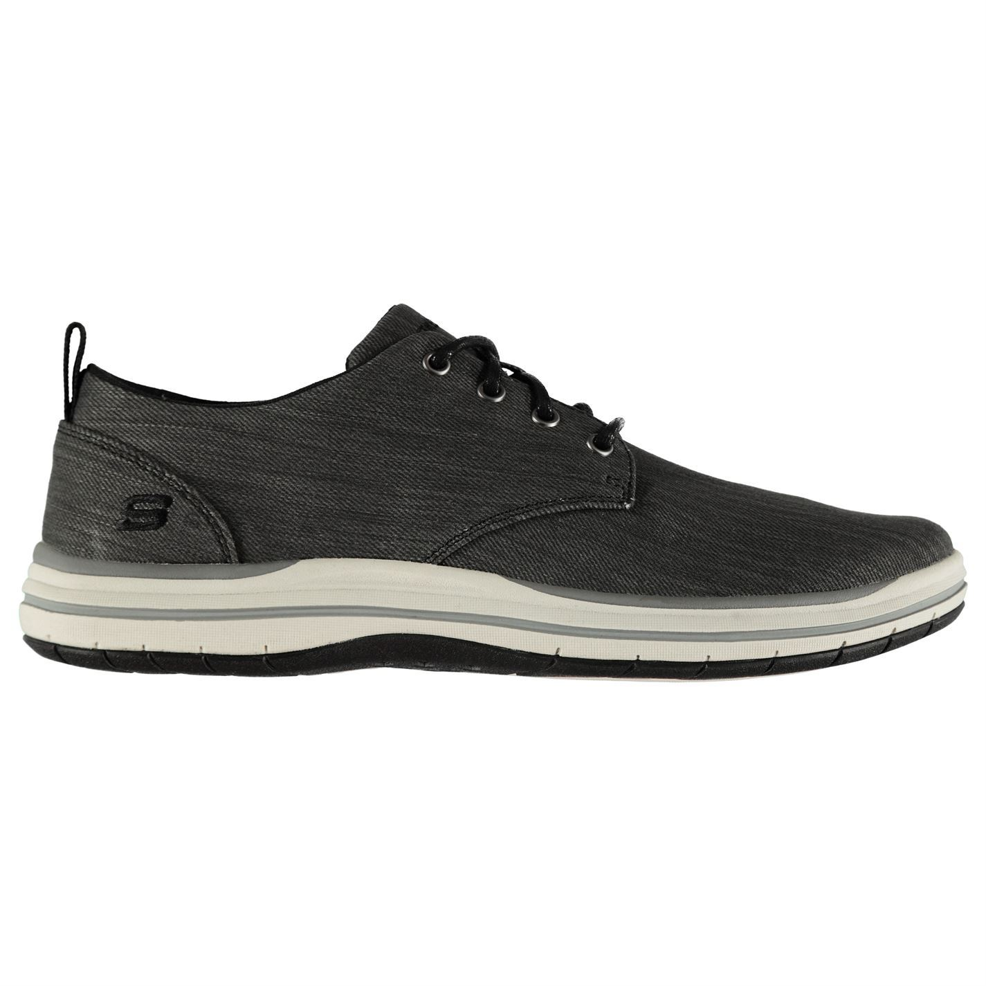 Skechers  Uomo Elson Moten Schuhes Casual Lace Up Lightweight Lightweight Lightweight Canvas Rounded Toe 40ff44