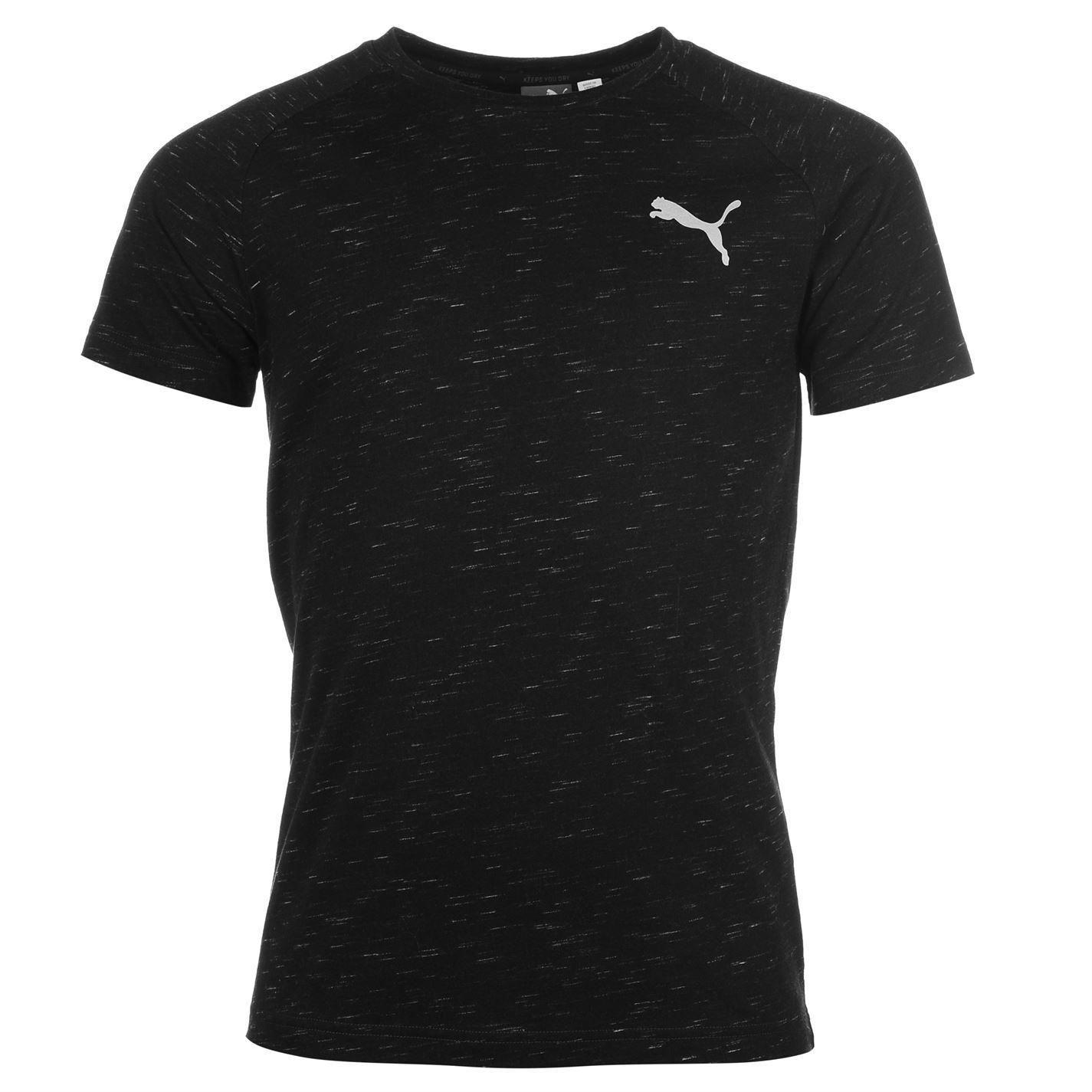 Puma Mens Evo Stripe T Shirt Tee Top Short Sleeve Crew