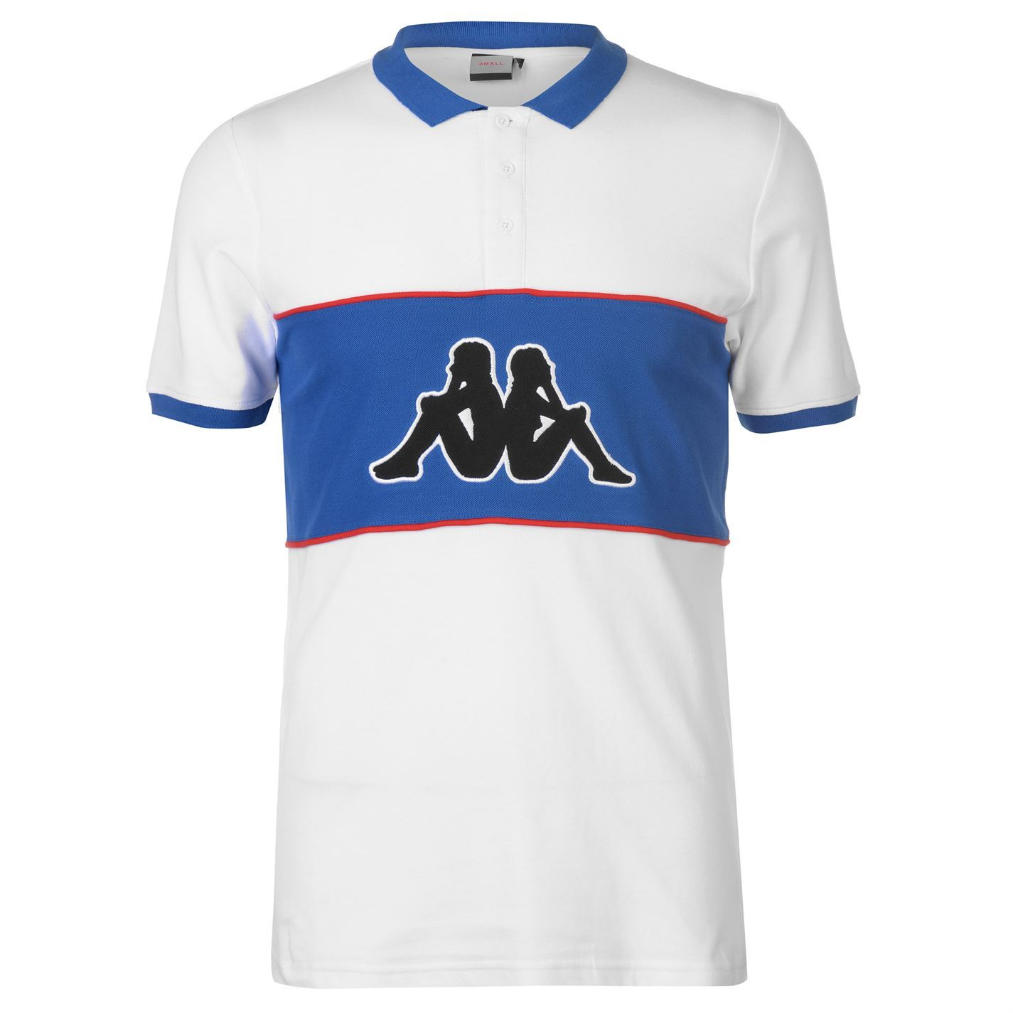 b40d1648fb Kappa Mens Panel Polo Shirt Classic Fit Tee Top Short Sleeve Cotton Button