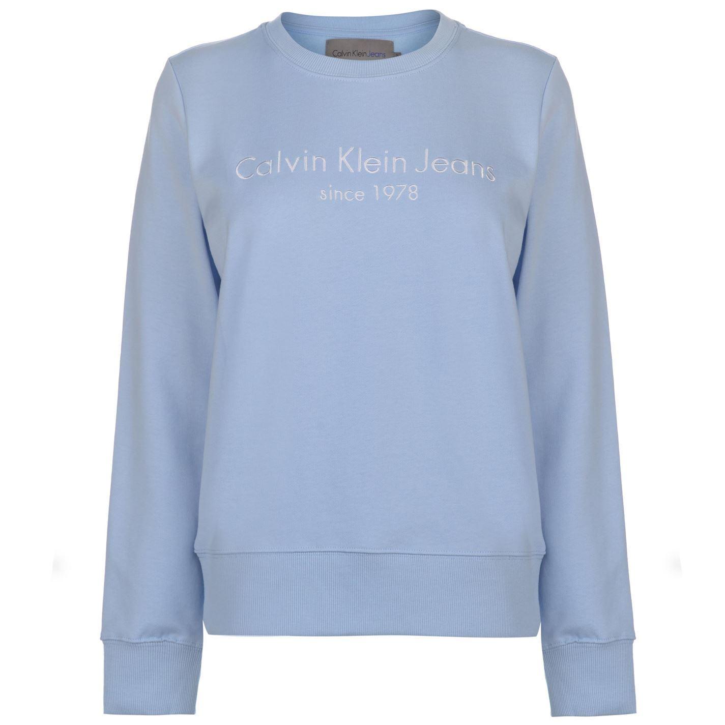 Calvin Klein Jeans BLEND INSTITUTIONAL - Pullover - blue 1973nLrh9