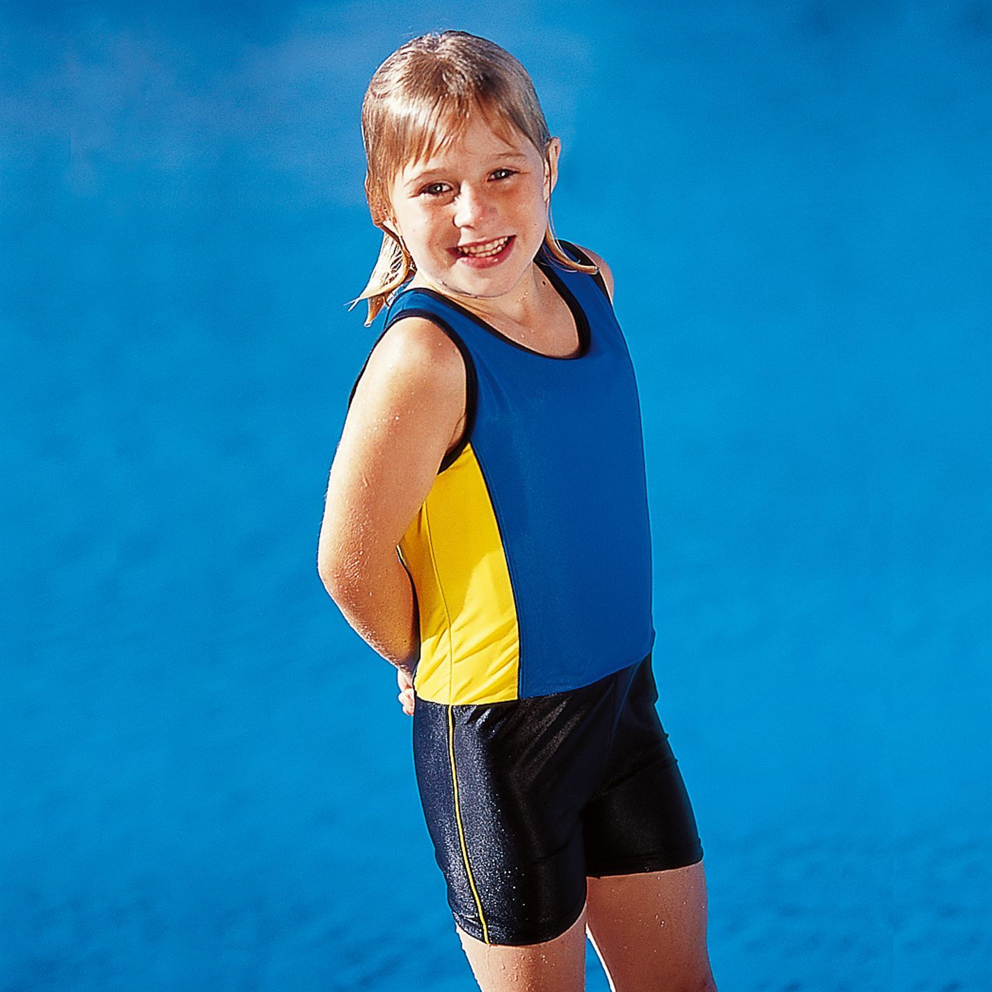 Win Kids Learn To Swim Suit Wetsuit Girls Children Swimwear Swimming