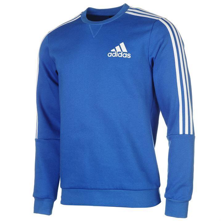 adidas-Mens-Gents-3-Stripe-Sweatshirt-Jumper-Crew-Neck-Long-Sleeve-Clothing