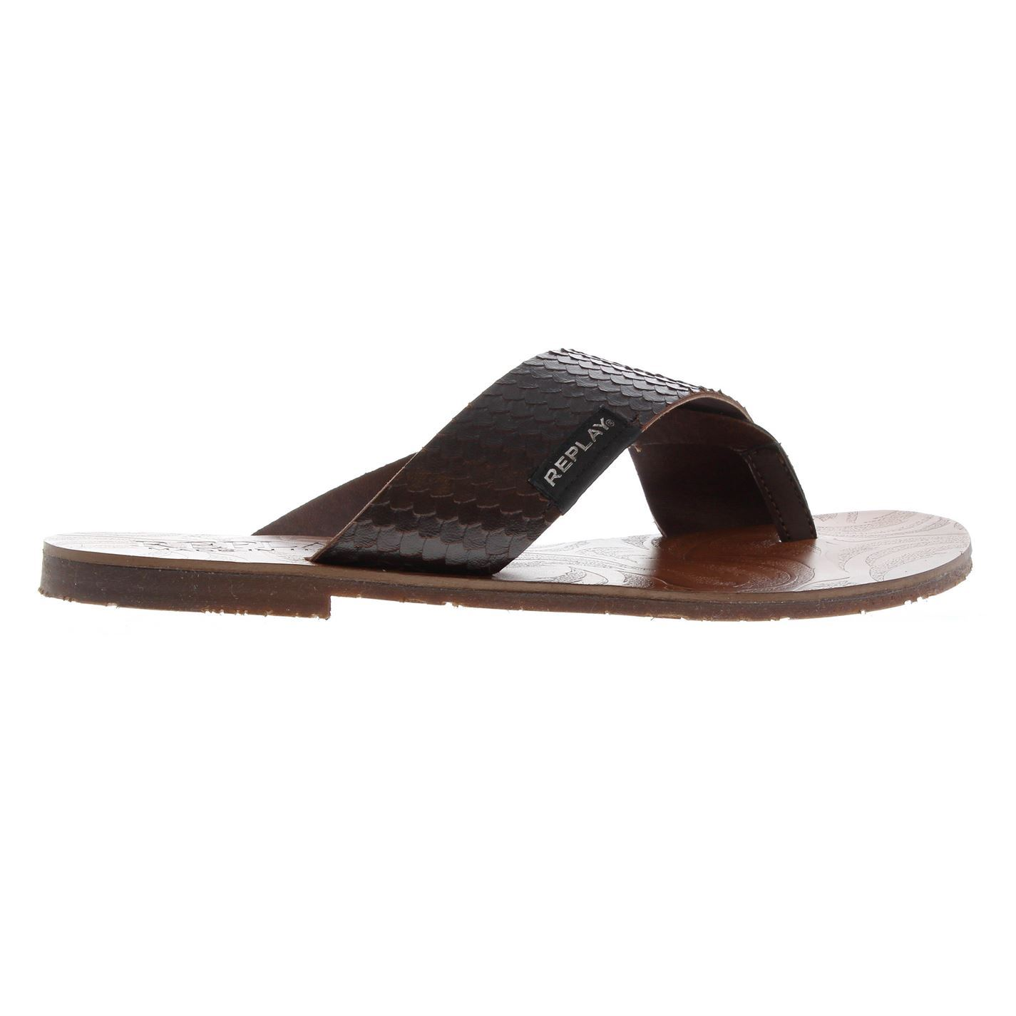c622a58e8026 Details about Mens Replay Rami Flip Flops Slip On Textured New