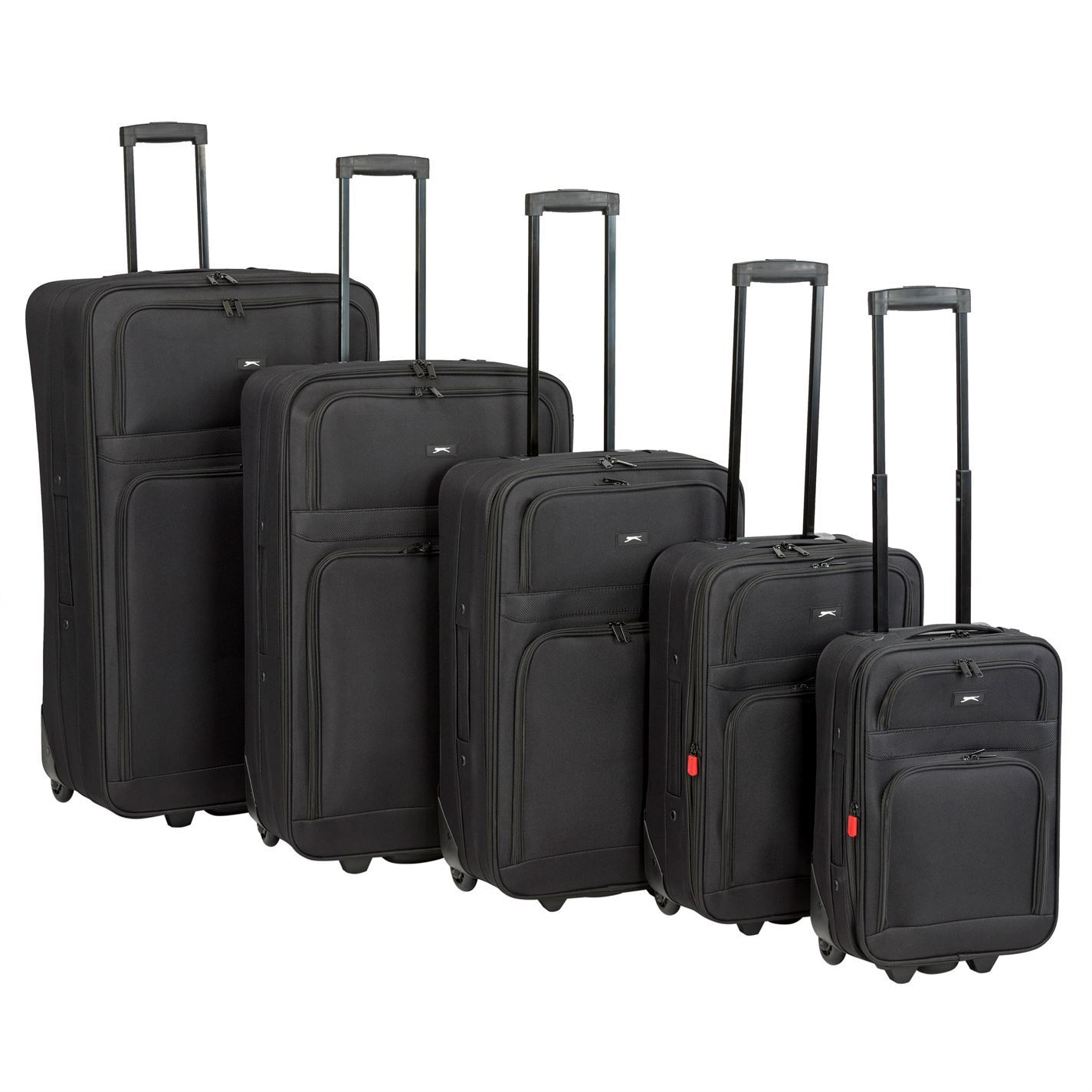Slazenger Travel Luggage Lightweight Wheeled Holdall Carryall ... a5fd324a7