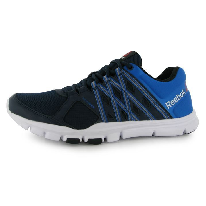 1522b57ca18 ... Train 4.0 Reebok-Mens-Yourflex-8-Trainers-Lace-Up-Textile- ...