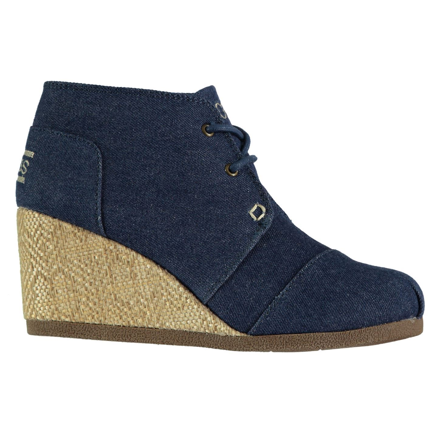 8a866900601e Skechers Womens Bobs High Notes Wedges Shoes Lace Up Memory Foam ...