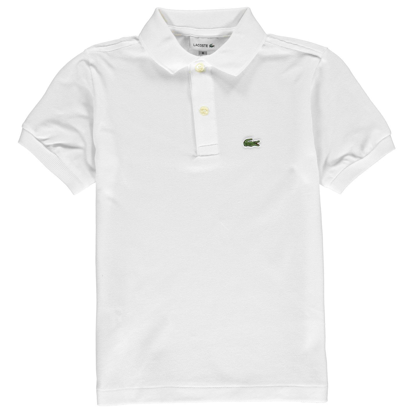 7c50999687320 Details about Kids Lacoste Basic Polo Shirt Classic Fit Short Sleeve New