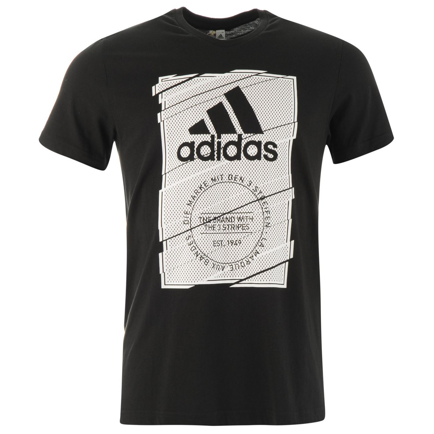 adidas Box Frame T Shirt Mens Gents Crew Neck Tee Top | eBay