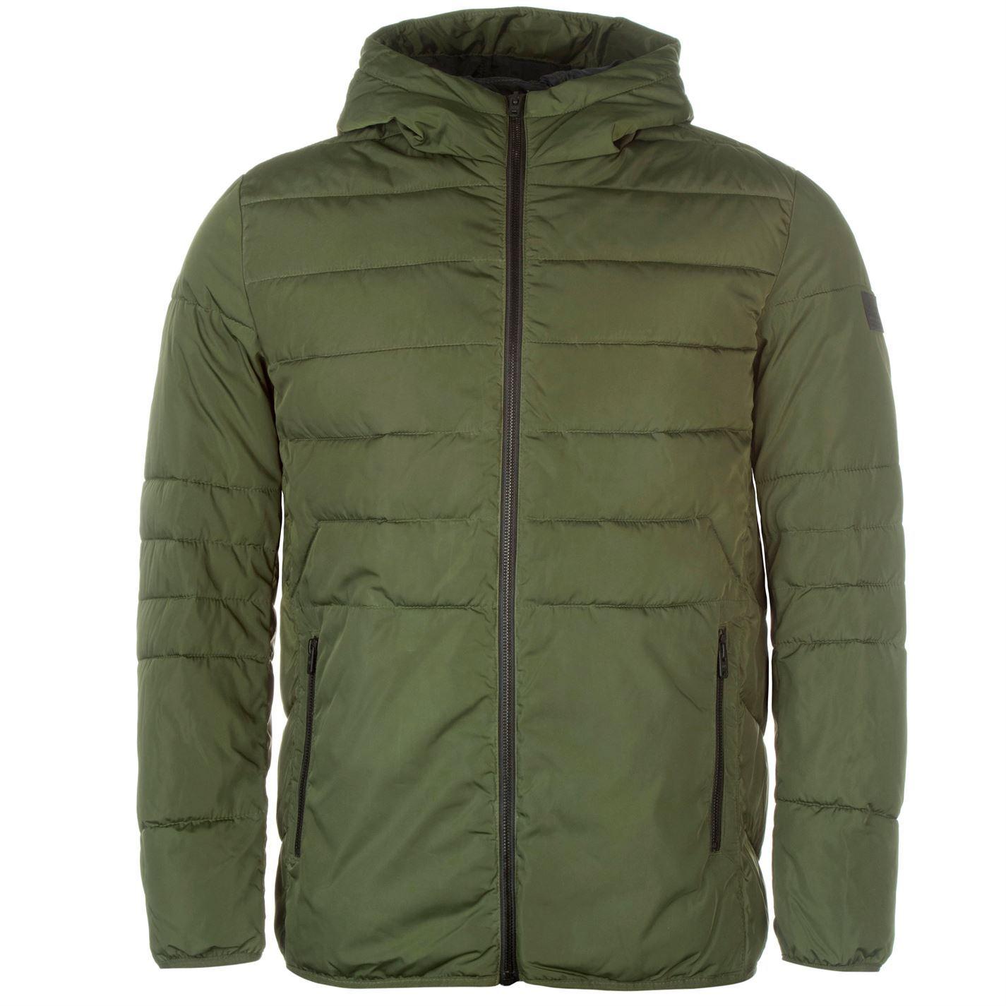 Core Jack Mens Jacket Zip Coat Hooded Top Padded Orbin and Jones qtR4rwnFZt