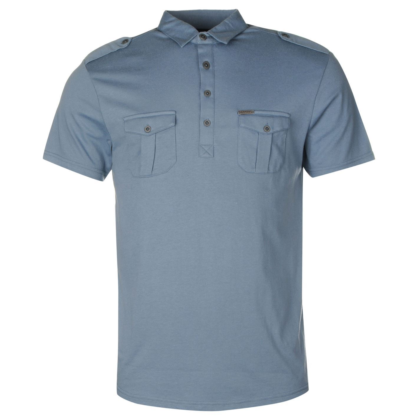 Firetrap gents mens double pocket polo shirt regular for Polo t shirts with pockets
