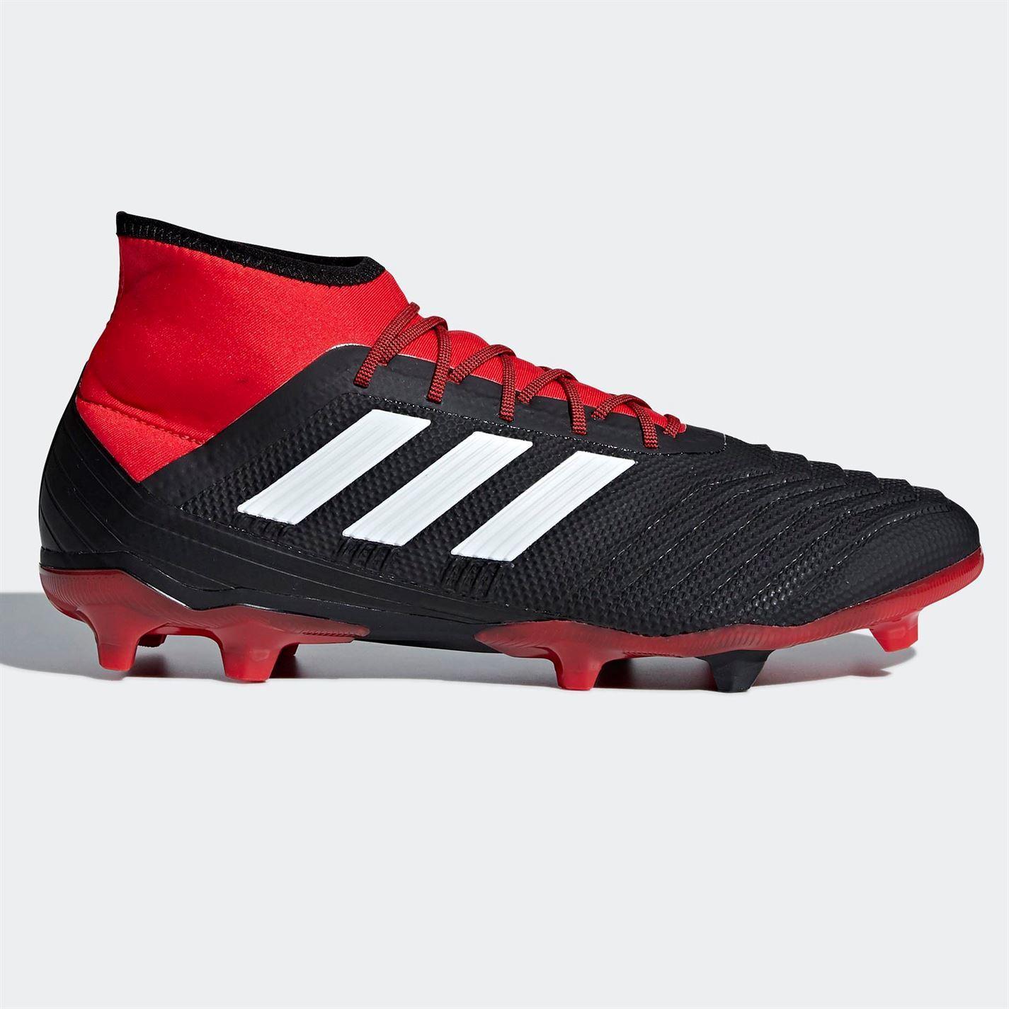 Adidas Homme Predator 18.2 FG Chaussures De Football Ferme Sol Lacets rivets stretch