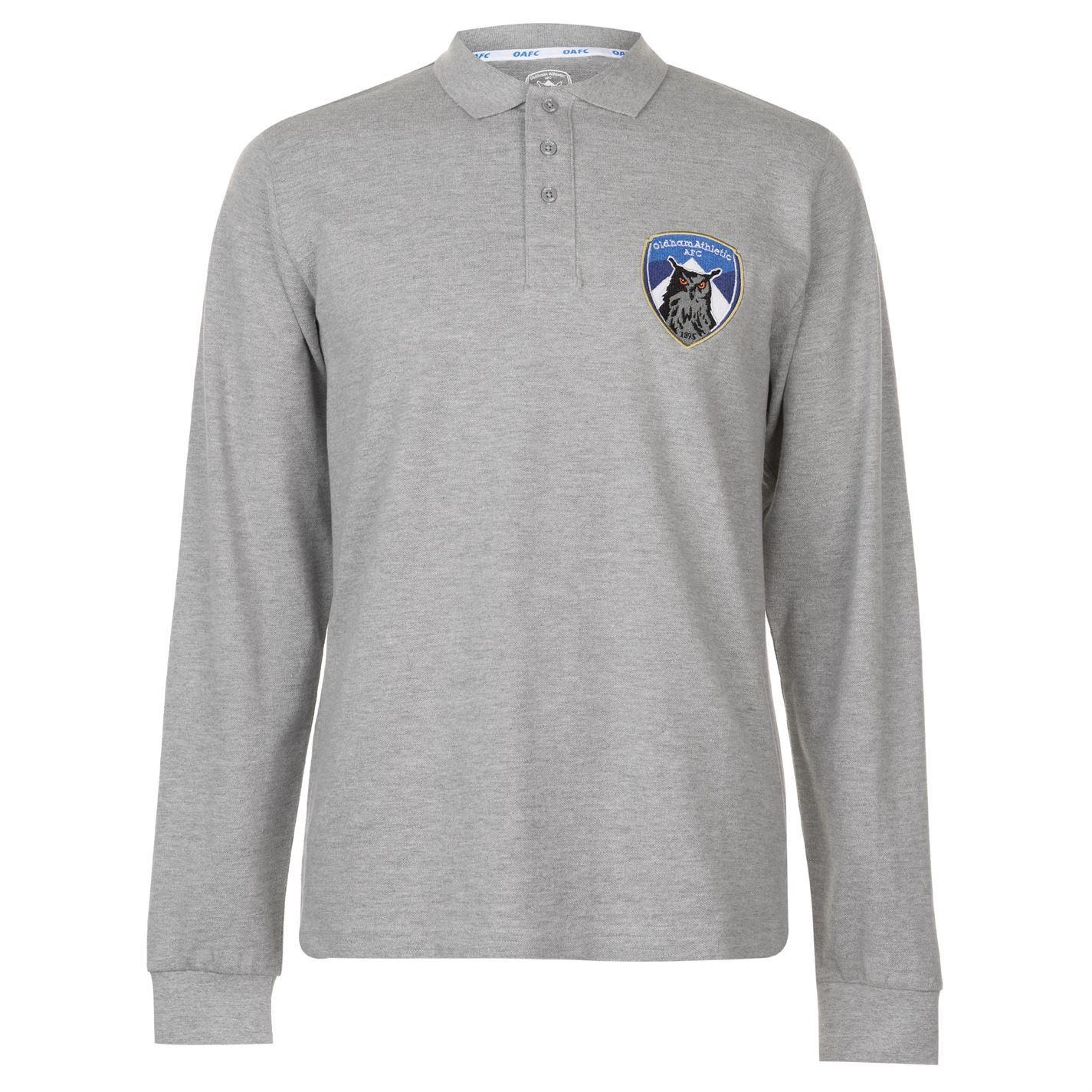 Team Mens Long Sleeve Polo Shirt Performance Top Colour Block Fold