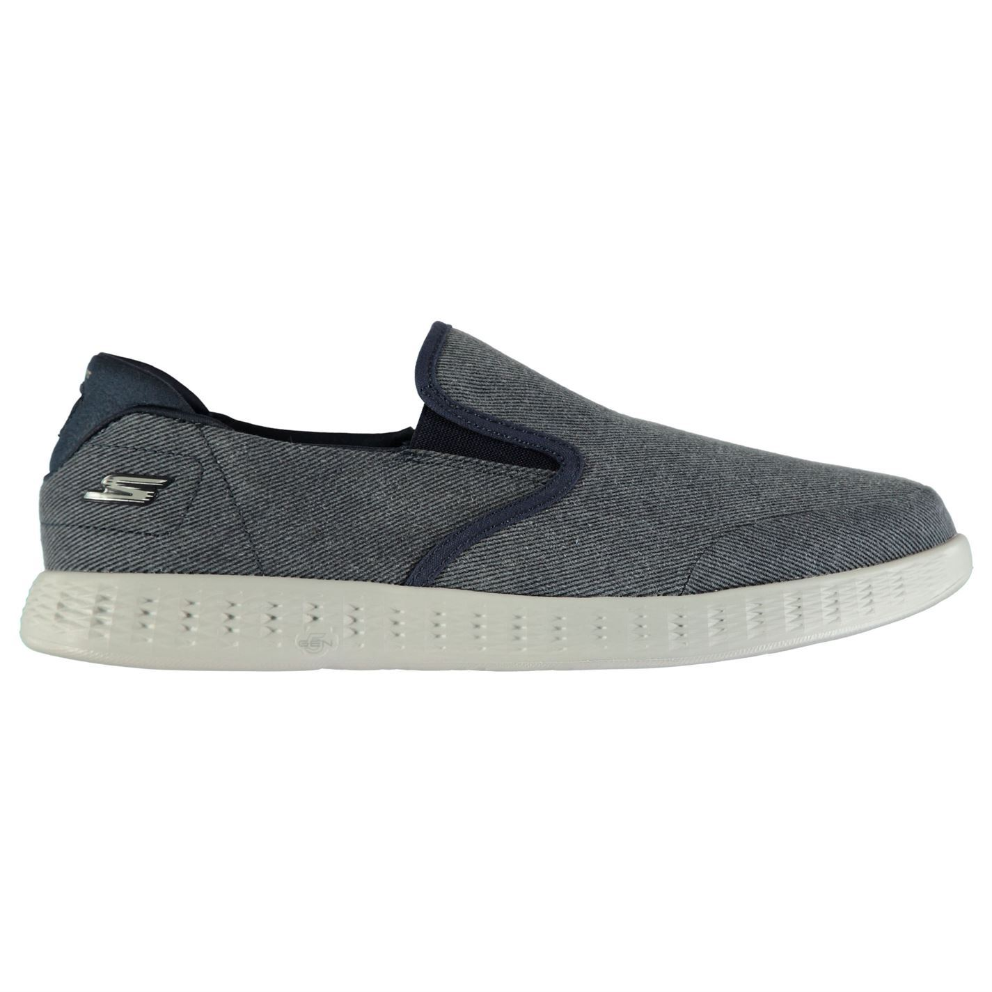 Skechers On  the Go Glide Schuhes  On Uomo Gents Slip Sneakers Lightweight Canvas fd2711