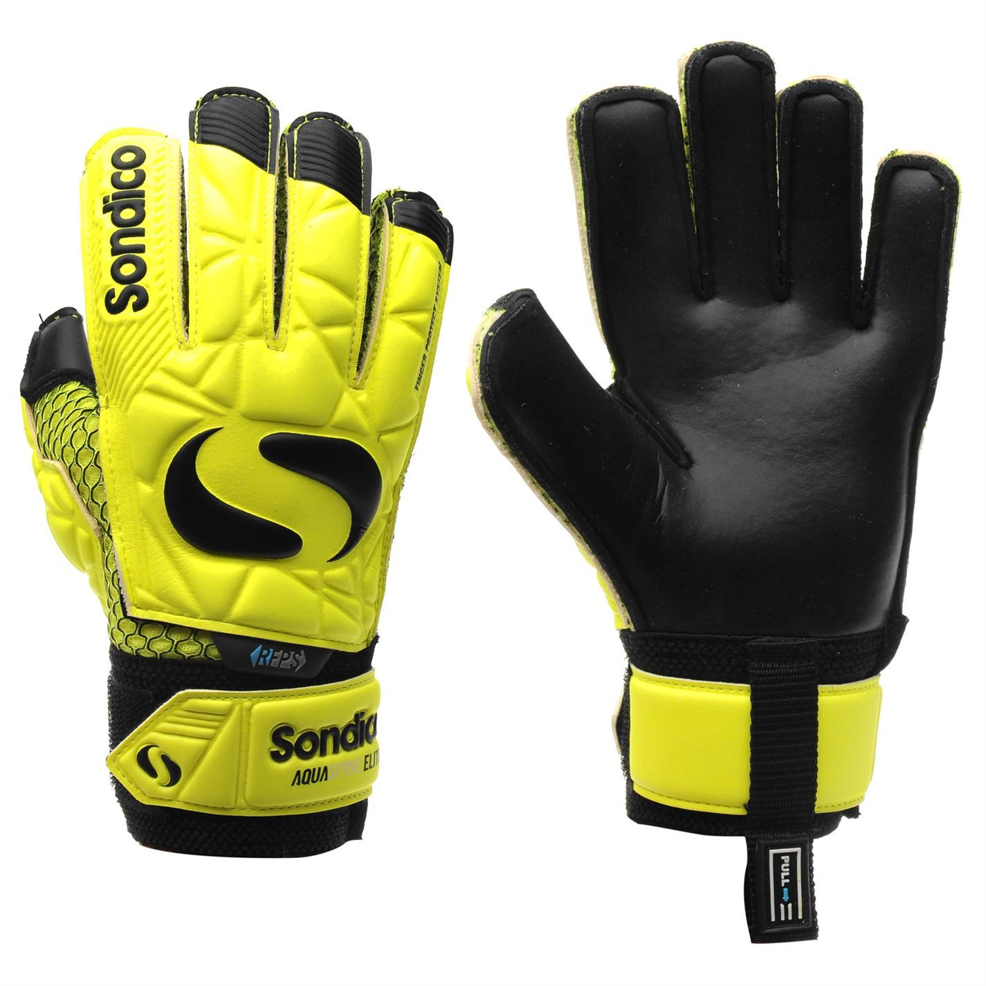 057ab3d743a The Kids Sondico Aqua Elite Goalkeeper Gloves have been crafted with a Duo  Grip latex foam palm for added grip for those exceptional saves along with  ...