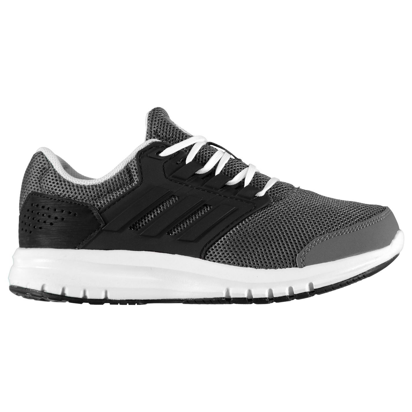 bed8c2bc53f adidas Galaxy 4 K Grey Black Kids Junior Boys Running Shoes Trainers ...