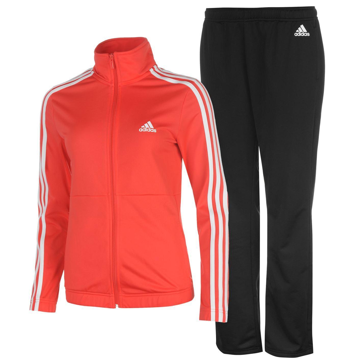 Adidas Womens Back 2 Basics 3 Stripes Tracksuit Sports