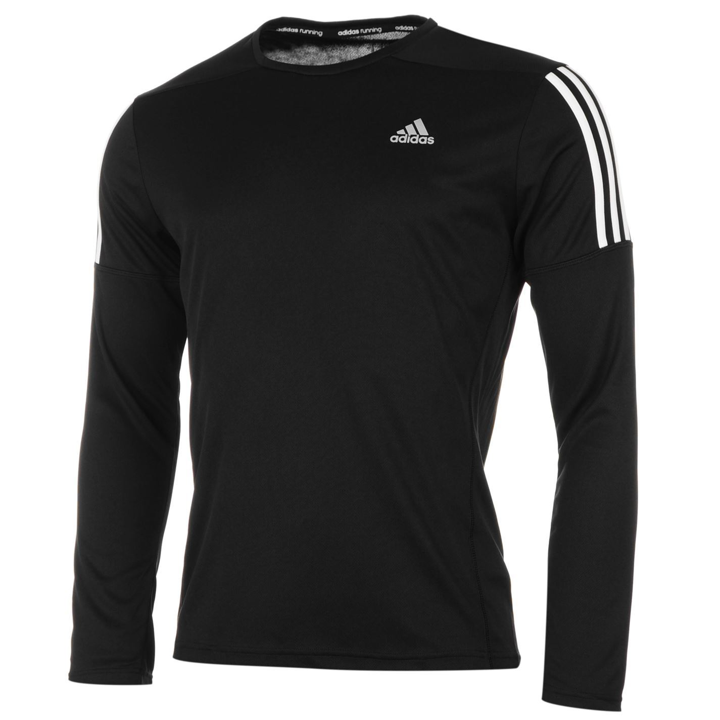 Adidas mens questar long sleeve running top crew neck for Best athletic dress shirts