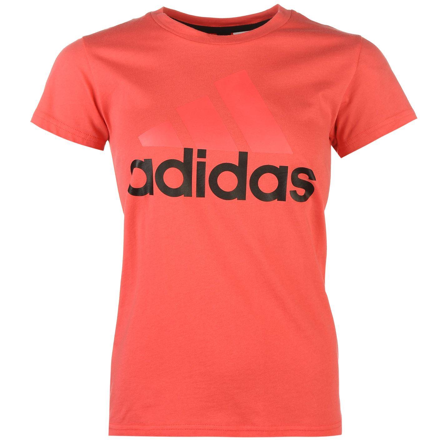 8a4620342451 adidas Ladies Linear QT T Shirt Top Tee Short Sleeve Clothing | eBay