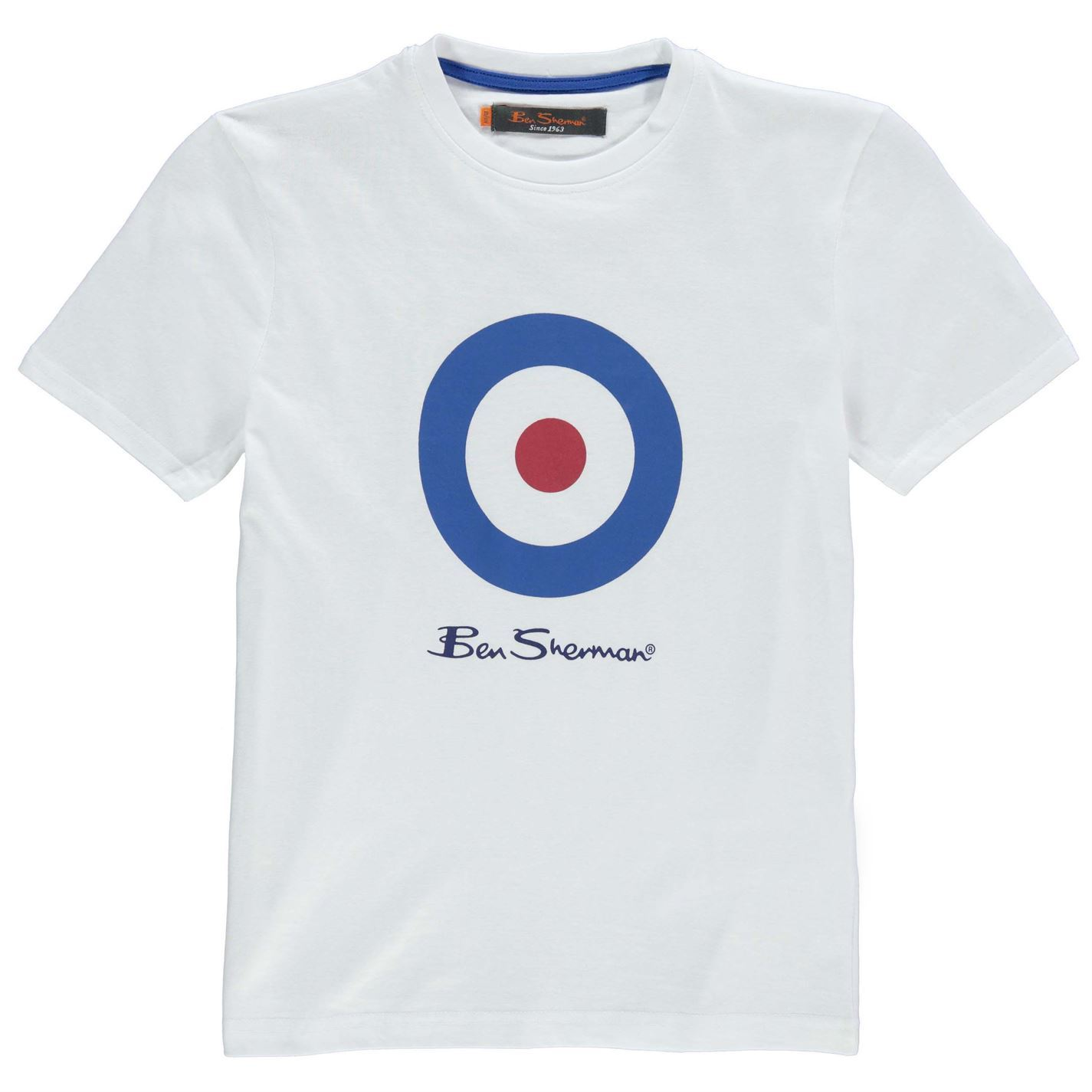 4eea2d9df8bf5e Ben Sherman Kids Target T Shirt Tee Top Junior Boys Crew Neck Short ...