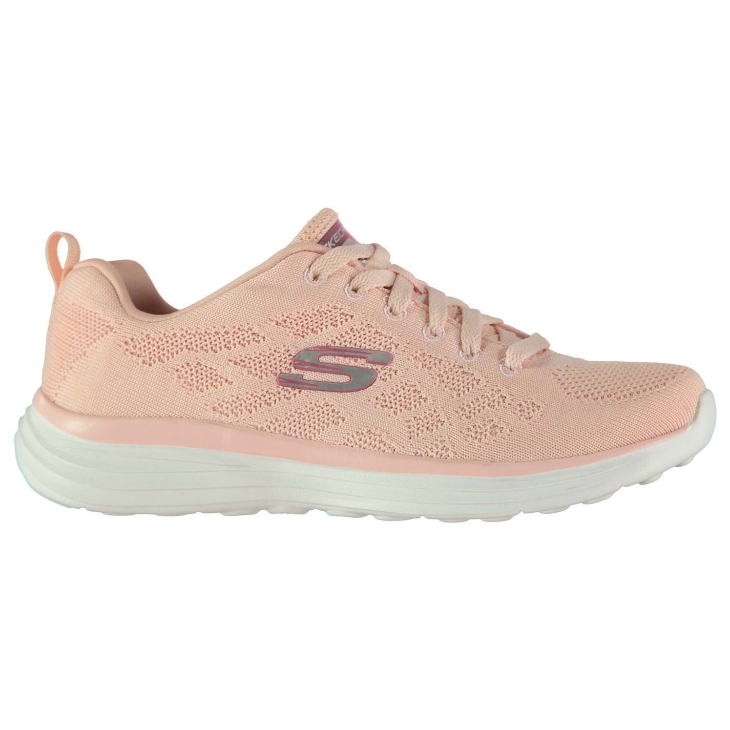 Skechers Damenschuhe Up ST Knitted Trainers Lades Runners Lace Up Damenschuhe Padded Ankle Collar dec690