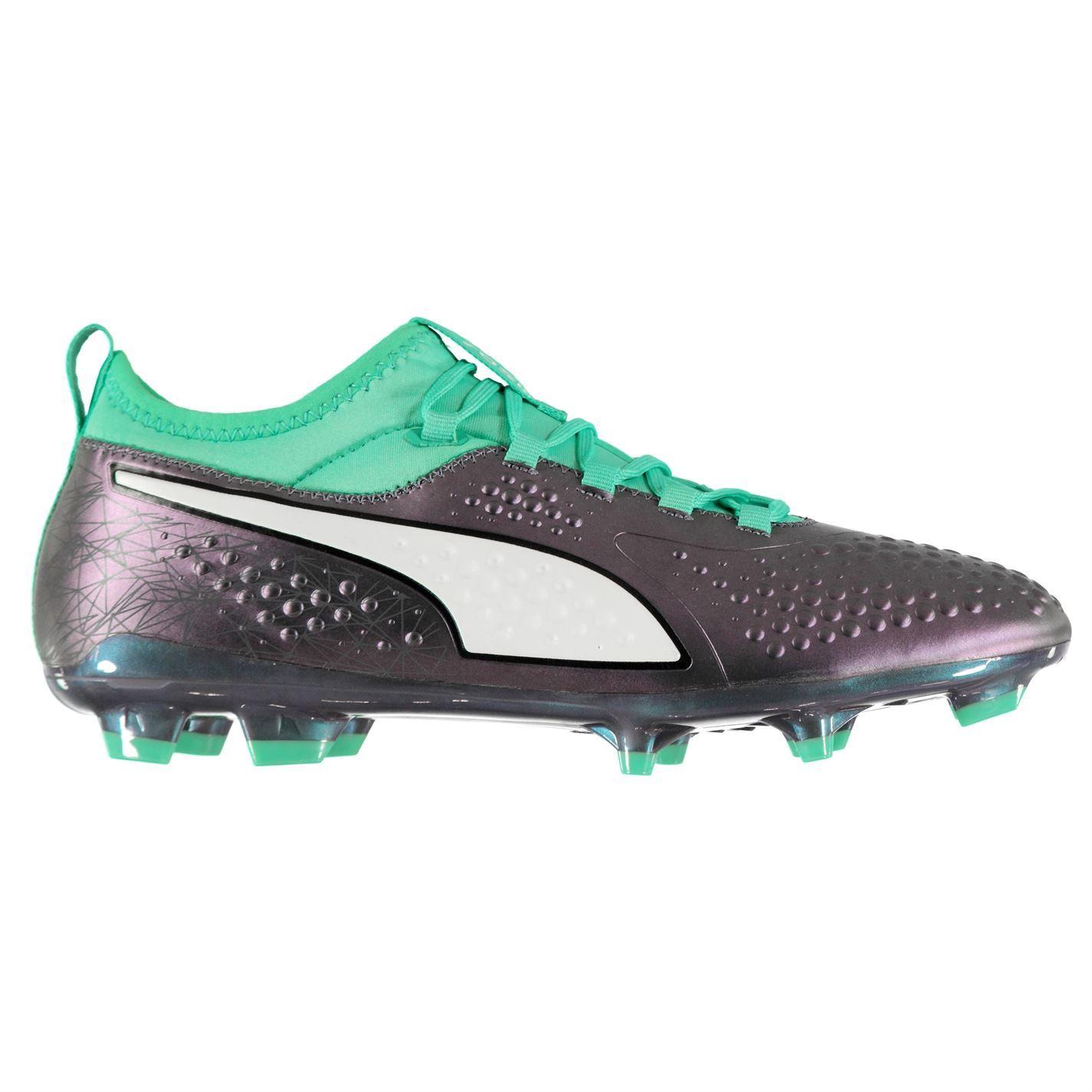 Puma Homme One 3 FG Chaussures De Football Ferme Sol à Lacets Léger Rivets-