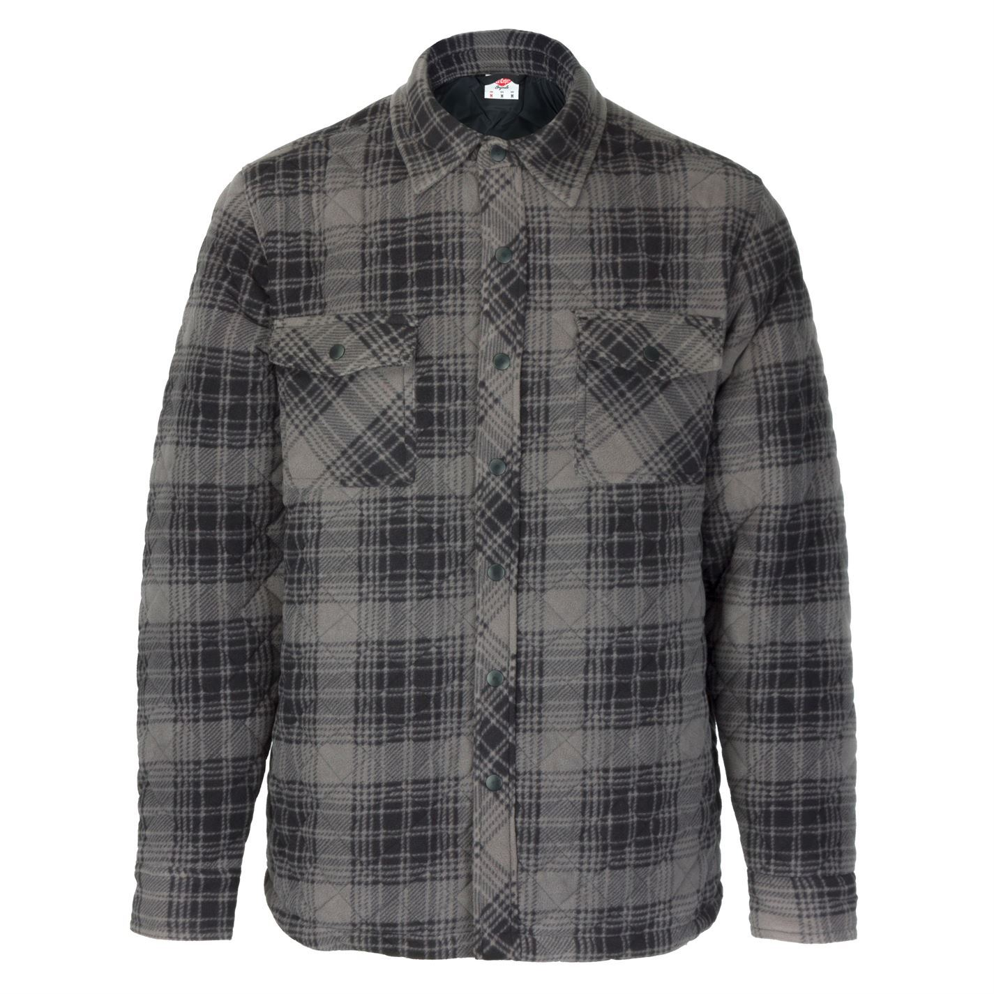 Lee Cooper Mens Quilted Padded Shirt Long Sleeve Casual Pattern Warm