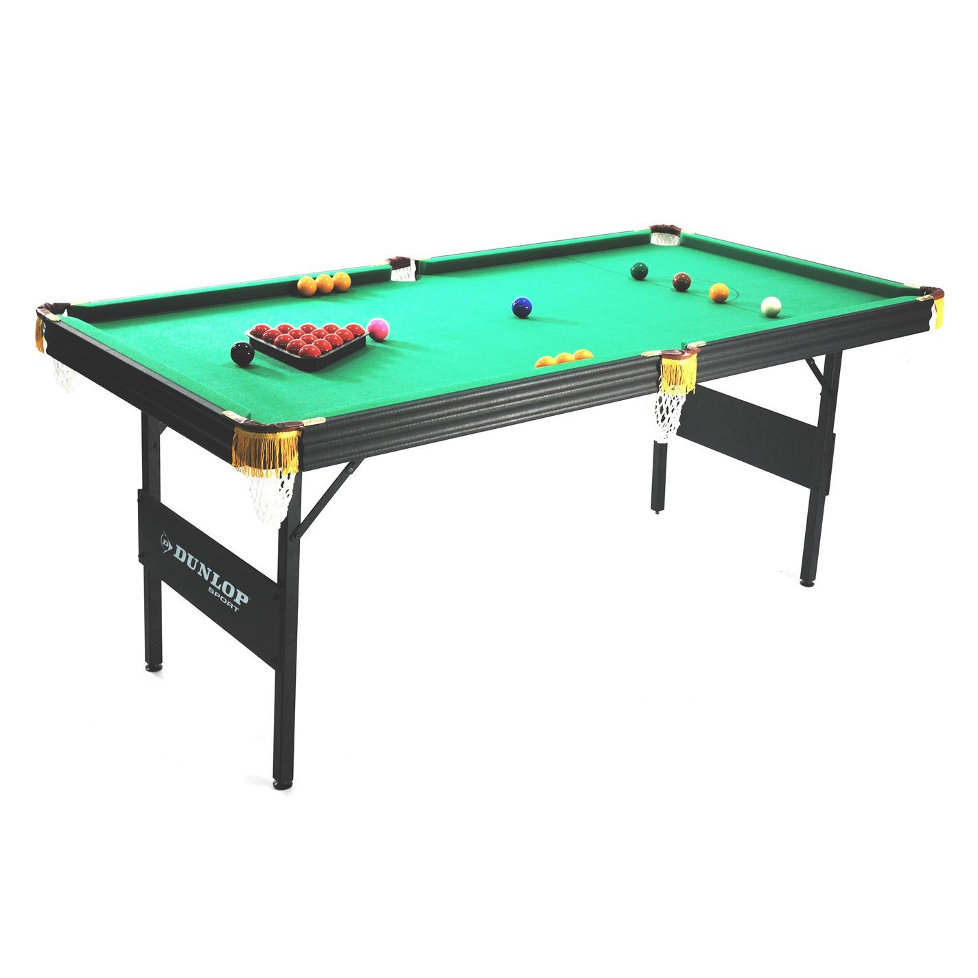 Dunlop 6ft Snooker Pool Table Folding Design Play Game