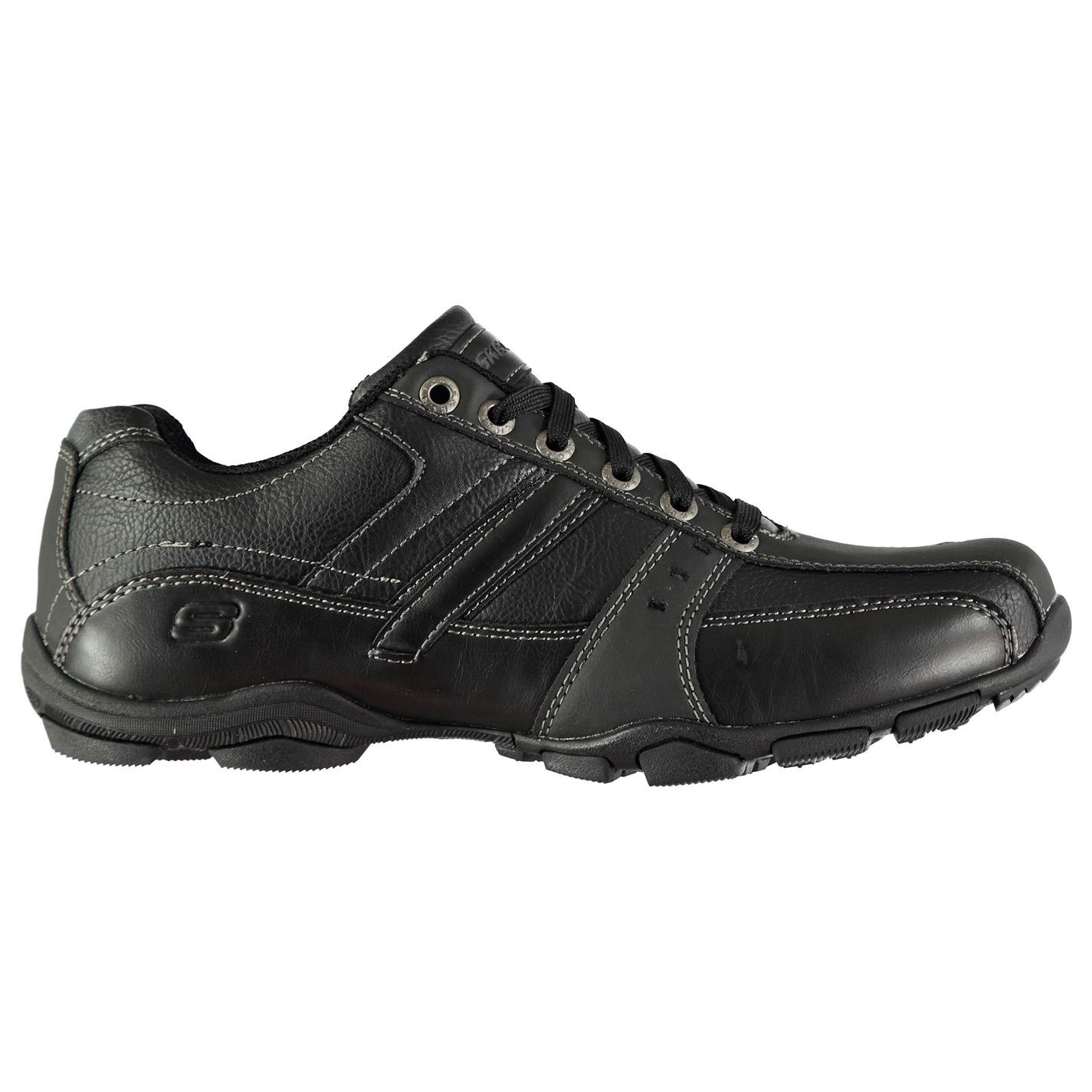 Skechers Mens Lace Casual Shoes Up Padded Ankle Collar Memory Foam