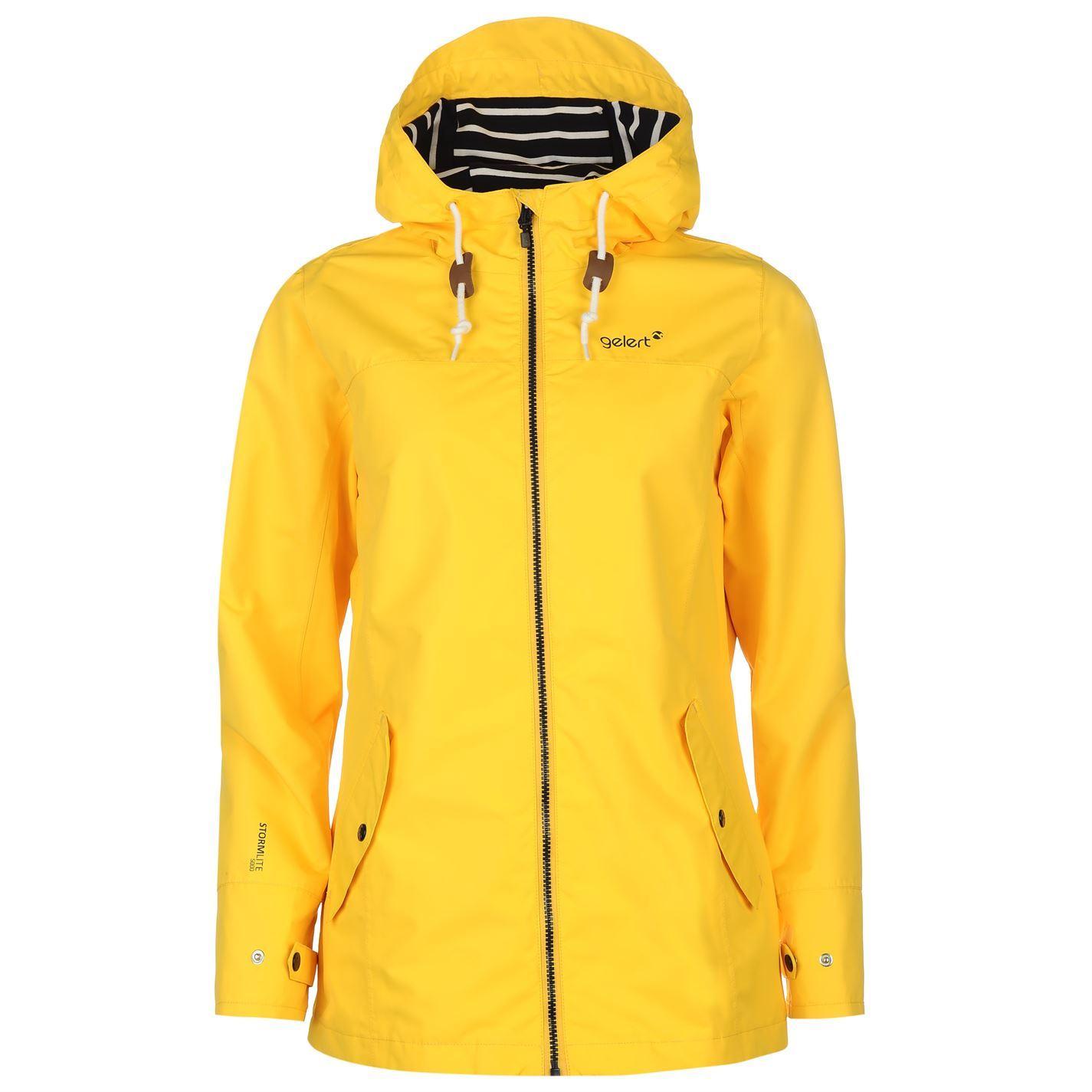 Gelert Womens Coast Jacket Top Coat Waterproof High Neck ...