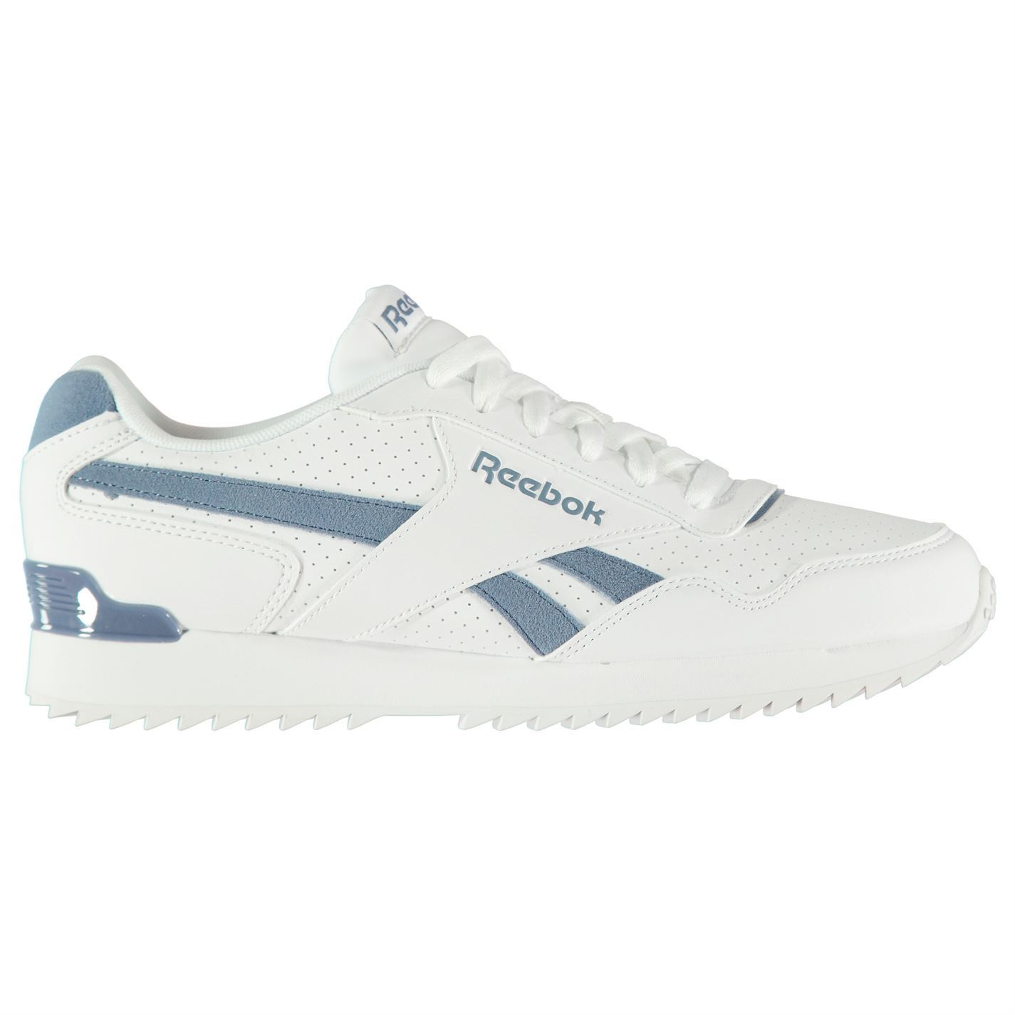 Reebok Royal Glide Ripple Clip Sneakers Fastened Mens Gents Runners Laces Fastened Sneakers Padded e83309