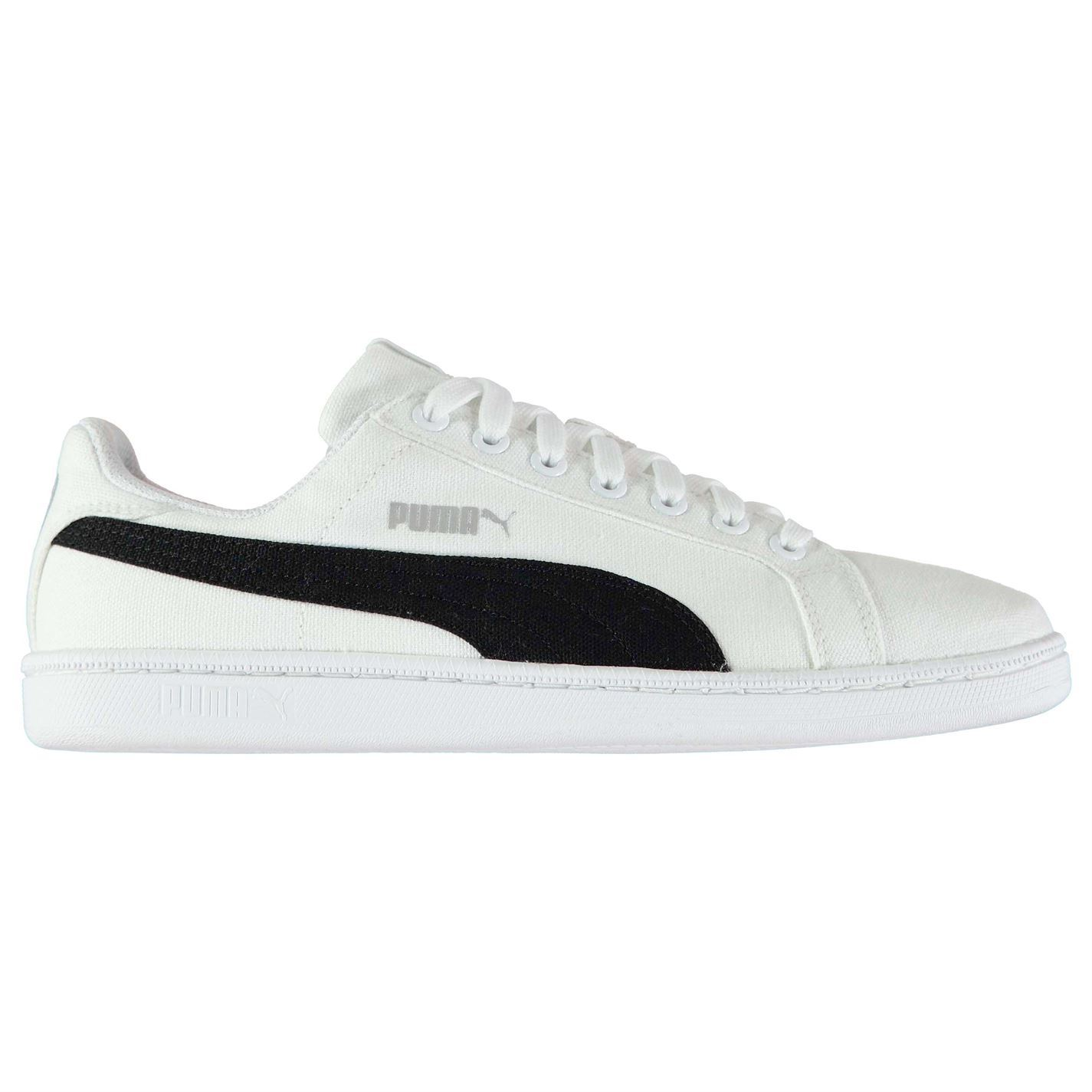 Puma Mens Smash Canvas Trainers Sneakers Lace Up Shoes Padded Ankle ... cf2fca4d2e32