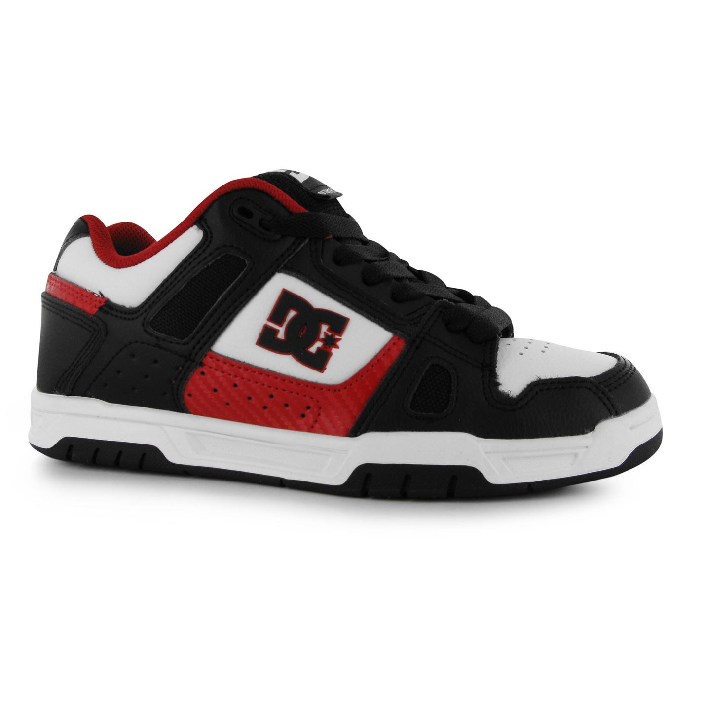 Skate shoes ankle support - Dc Mens Stag Skate Shoes Leather Trainers Lace Up Sneakers Ankle Support