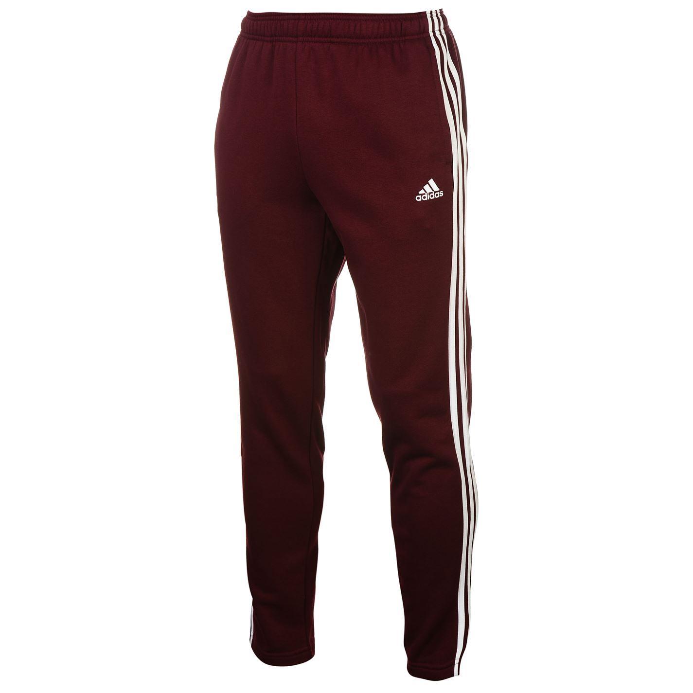 Adidas Mens Essentials 3 Stripe Tapered Jogging Bottoms