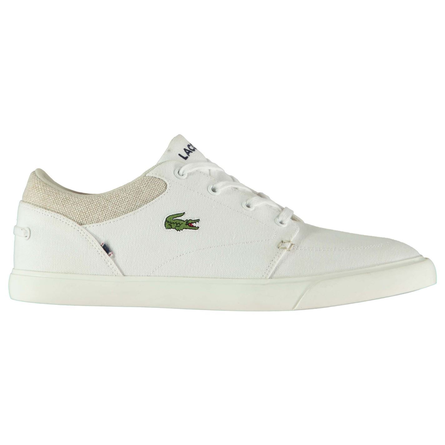 Image is loading Mens-Lacoste-Bayliss-Trainers-Low-Lace-Up-Textured-