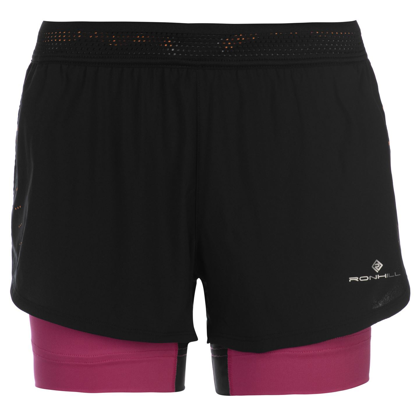 Clothing & Accessories Black Shorts Ronhill Infinity Marathon Twin Womens Running Shorts