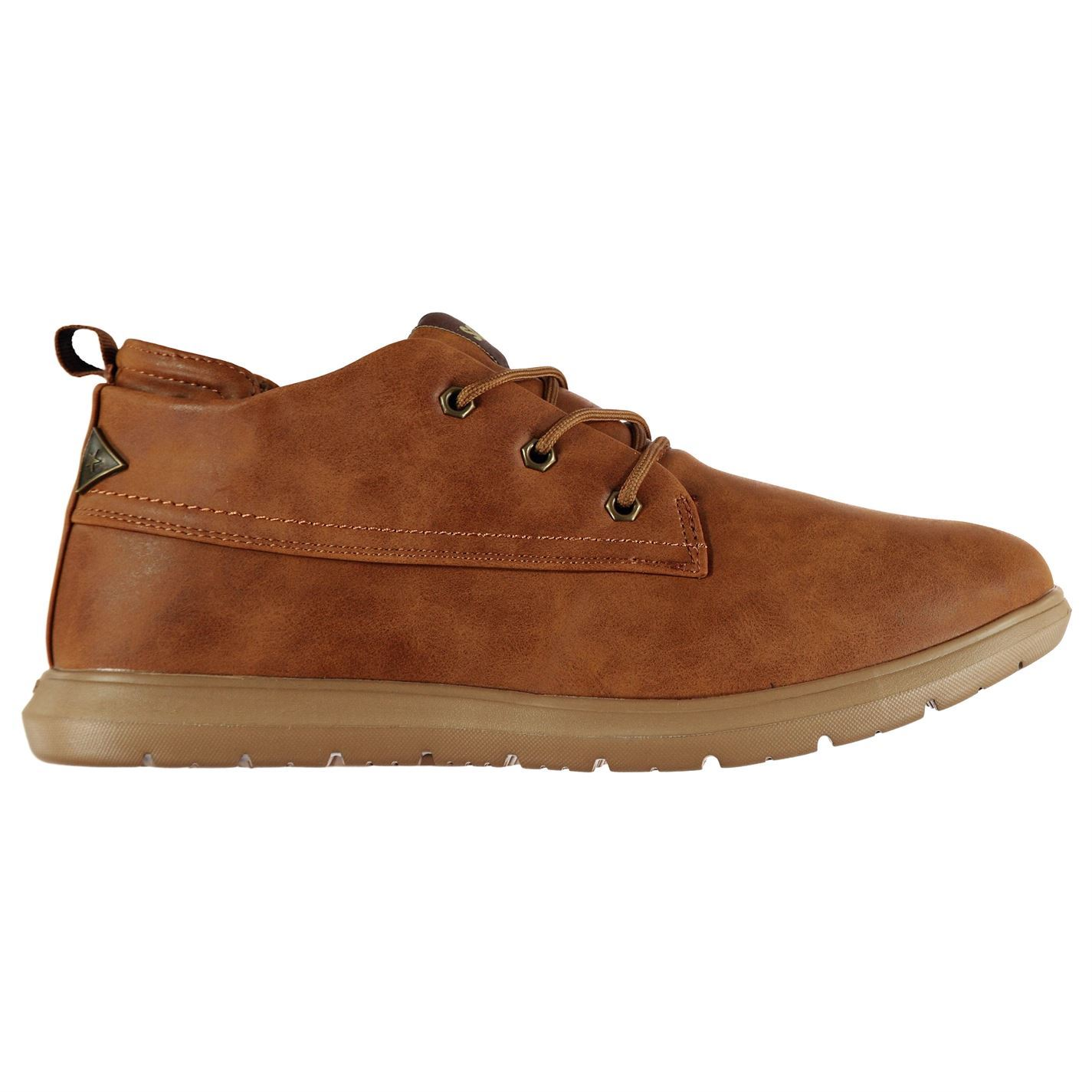 f401b0ba89 Soviet Mens Compton Chukka Boots Lace Up Padded Ankle Collar Textured