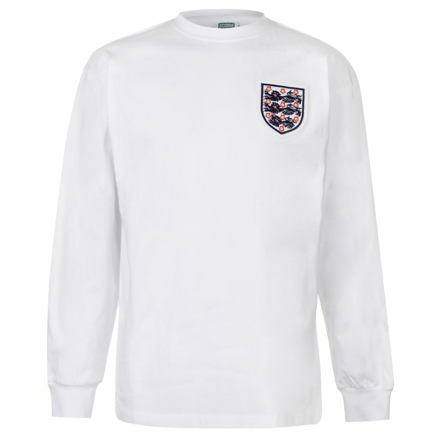 Score Draw Mens England 1966 Home Shirt Retro Long Sleeve Round Neck ...