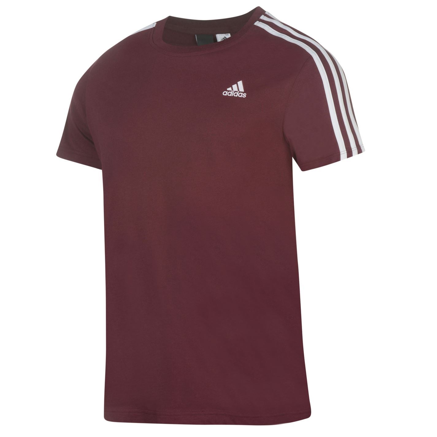 adidas essentials 3 stripe t shirt