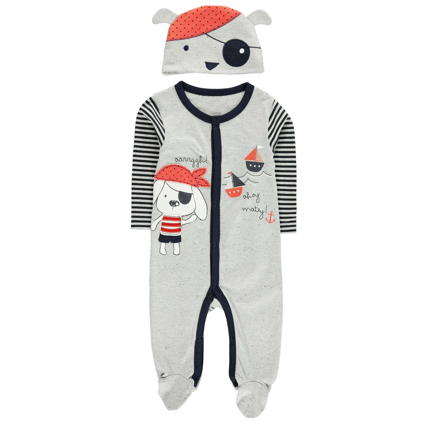 Crafted-Kids-2-Pack-Jersey-Set-Baby-Sleep-Suit-Hat-Full-Length-Legs-Top