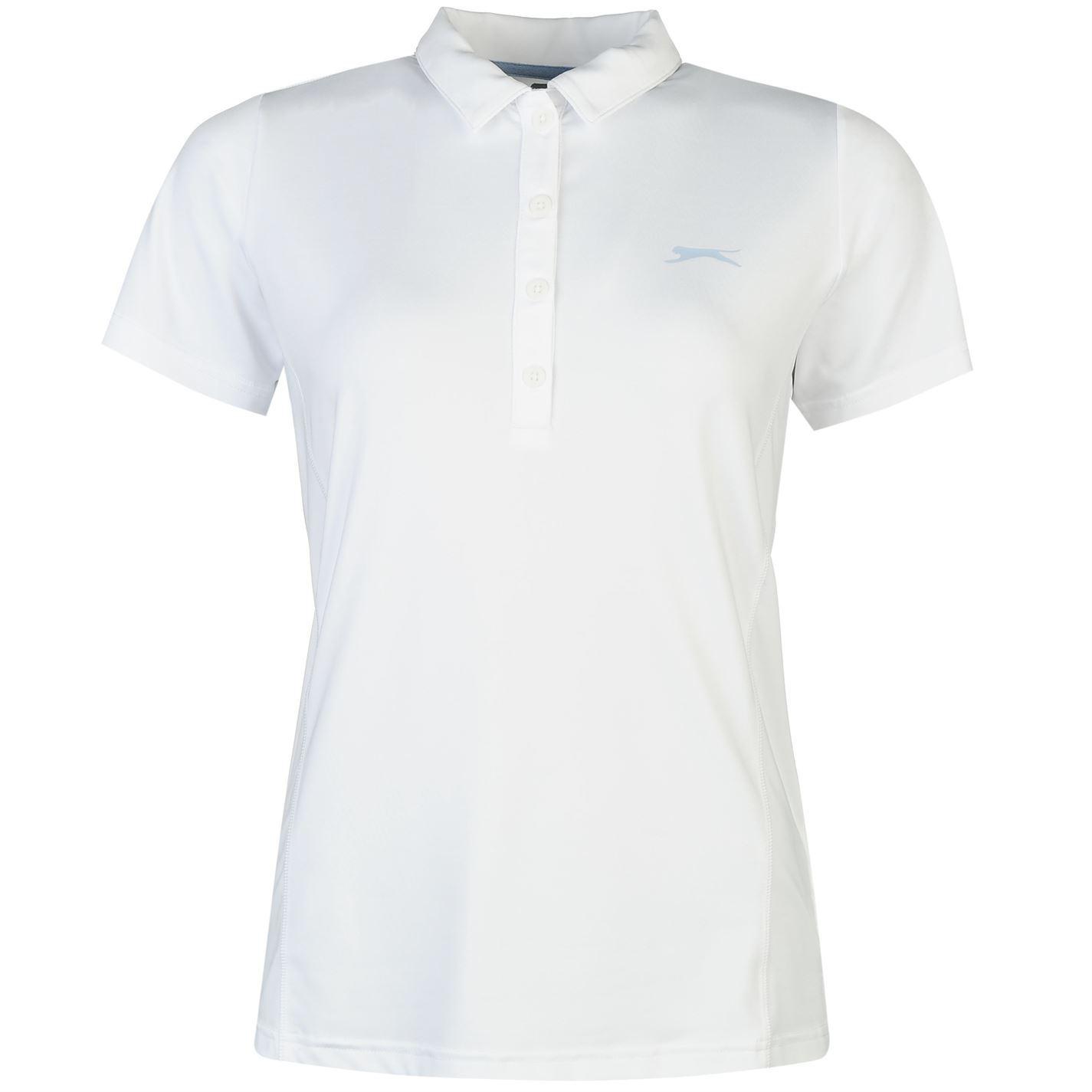 bed4cbff Details about Slazenger Womens Plain Golf Polo Tee Shirt Top Short Sleeve  Fold Down Collar