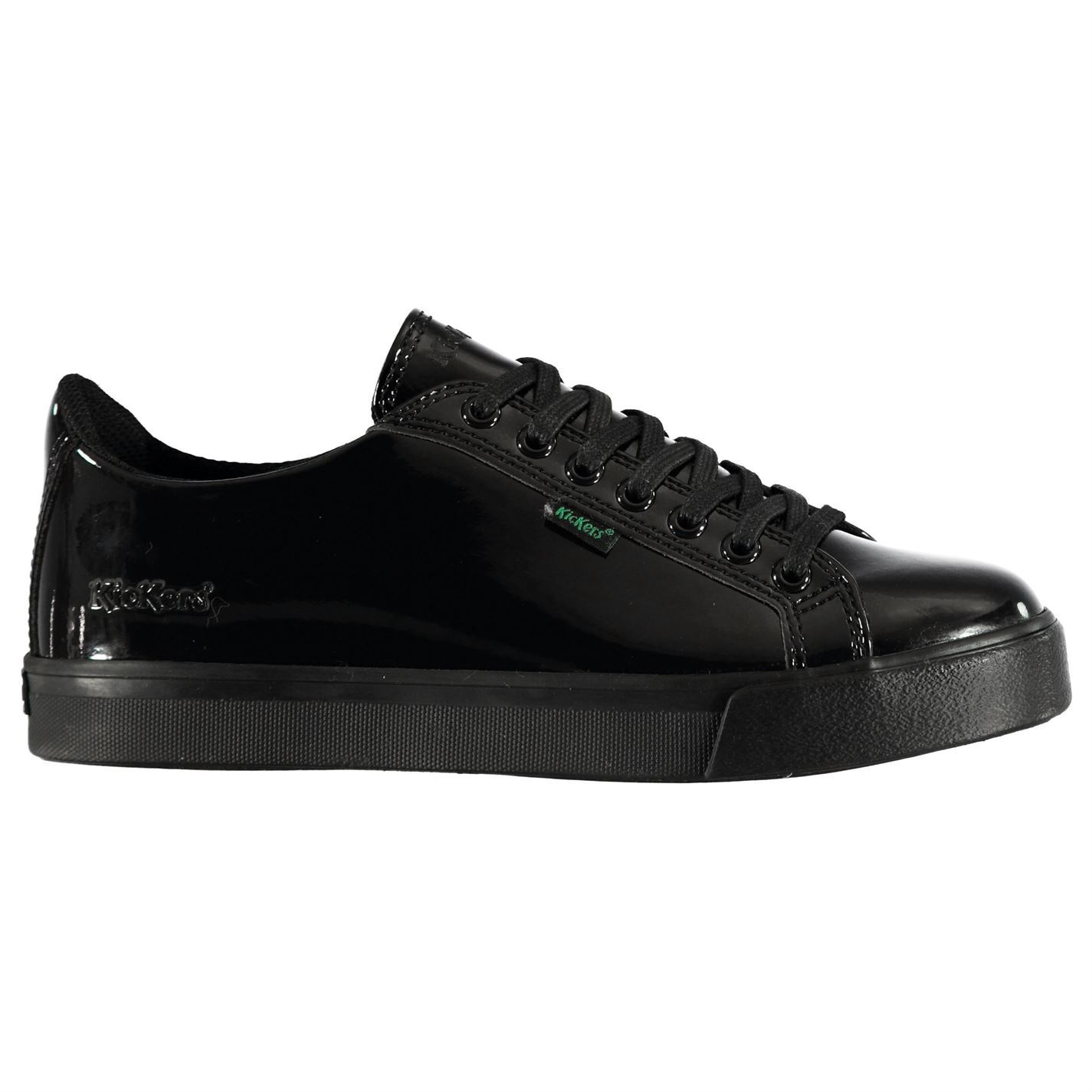 6bfea994 Details about Kids Kickers Tovni Patent Shoes Low Trainers Tonal Stitching  New