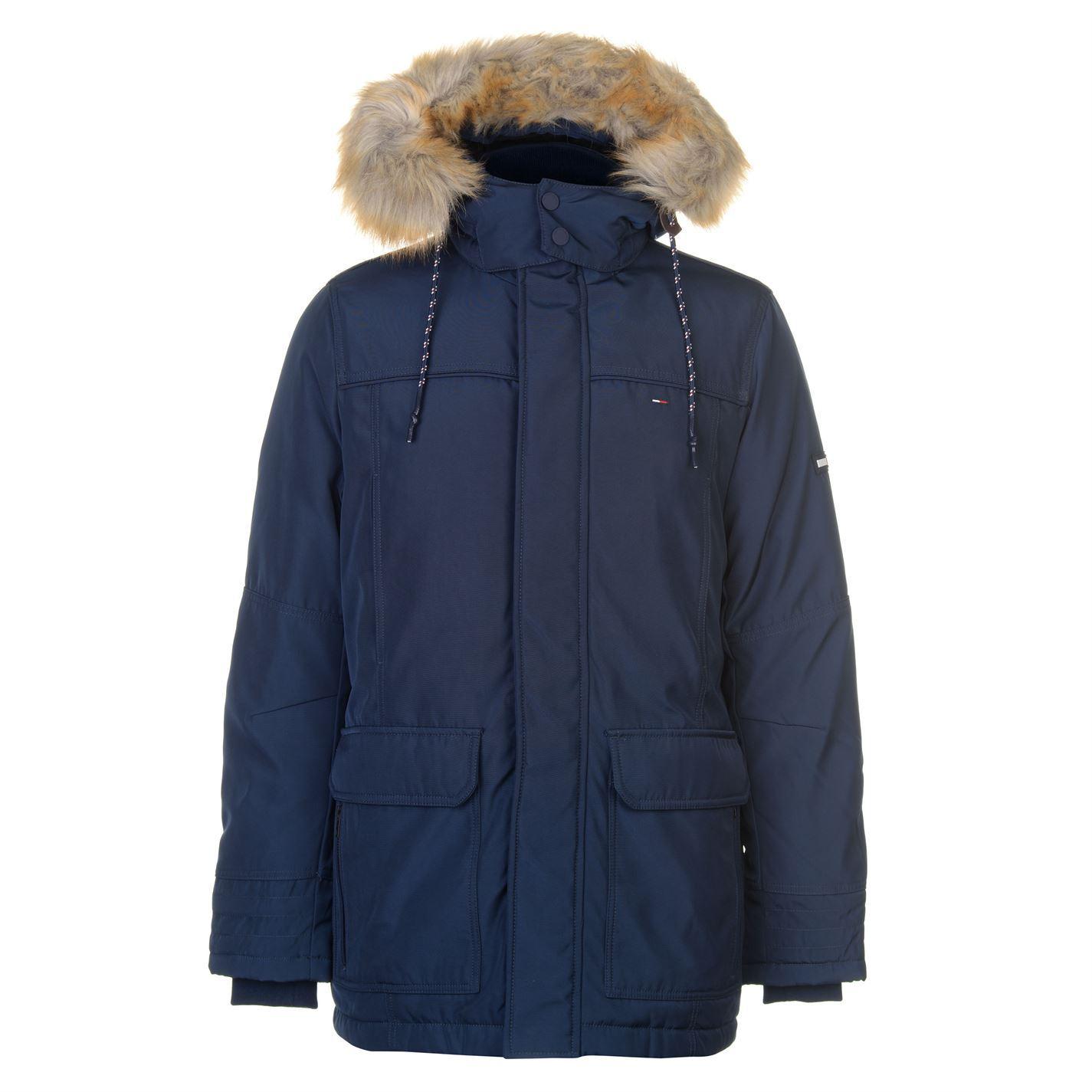 702e0a85 Mens Tommy Jeans Tech Parka Jacket High Neck New   eBay