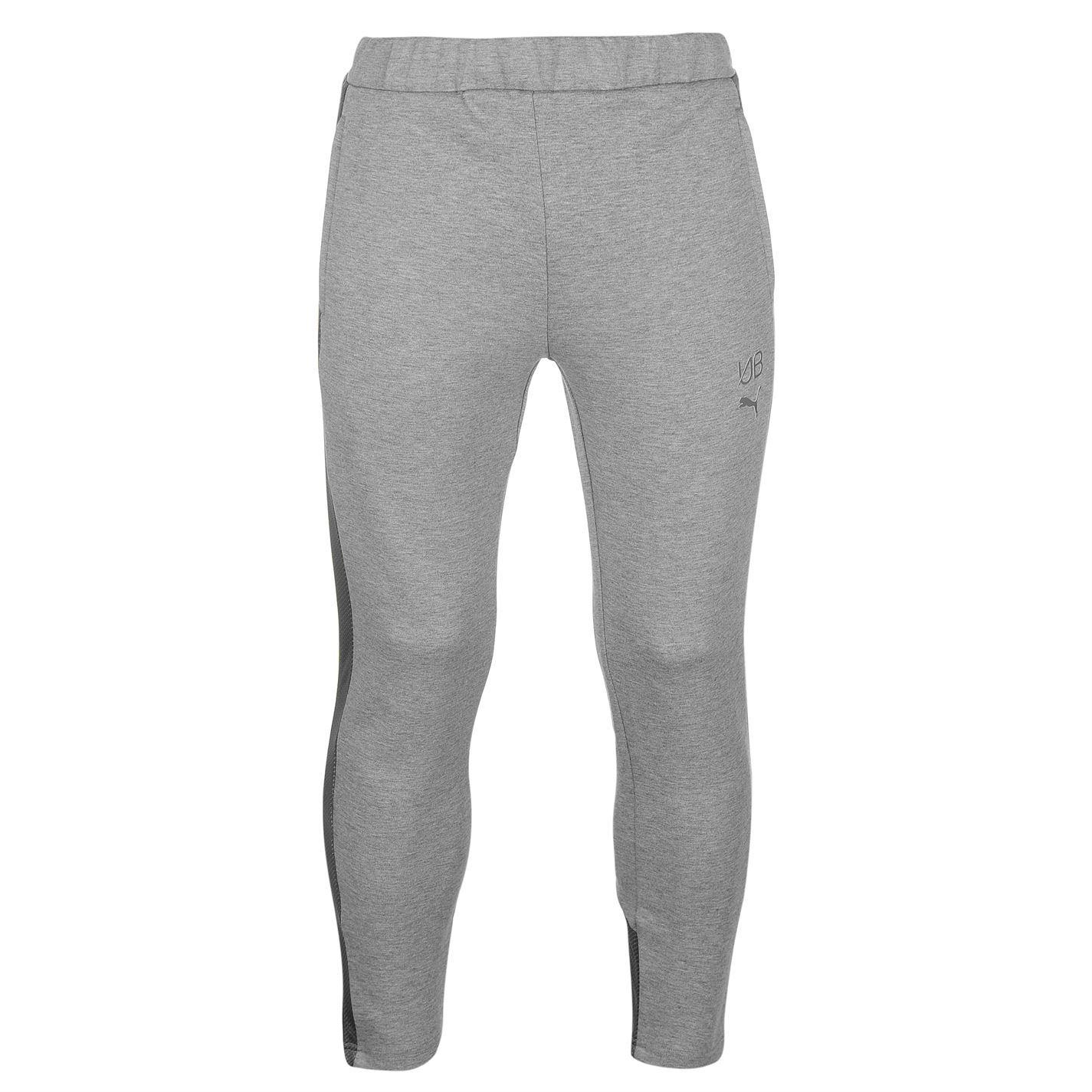 a3bbfdcf8b7f PUMA Mens Gents Usain Bolt Tracksuit Bottoms ZIPPED Clothing Grey XL ...