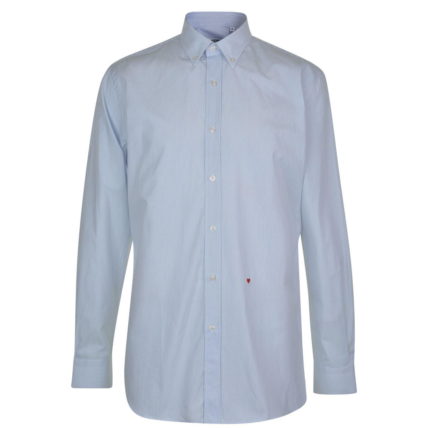 Moschino Mens Shirt Formal Button Up Long Sleeve Cotton