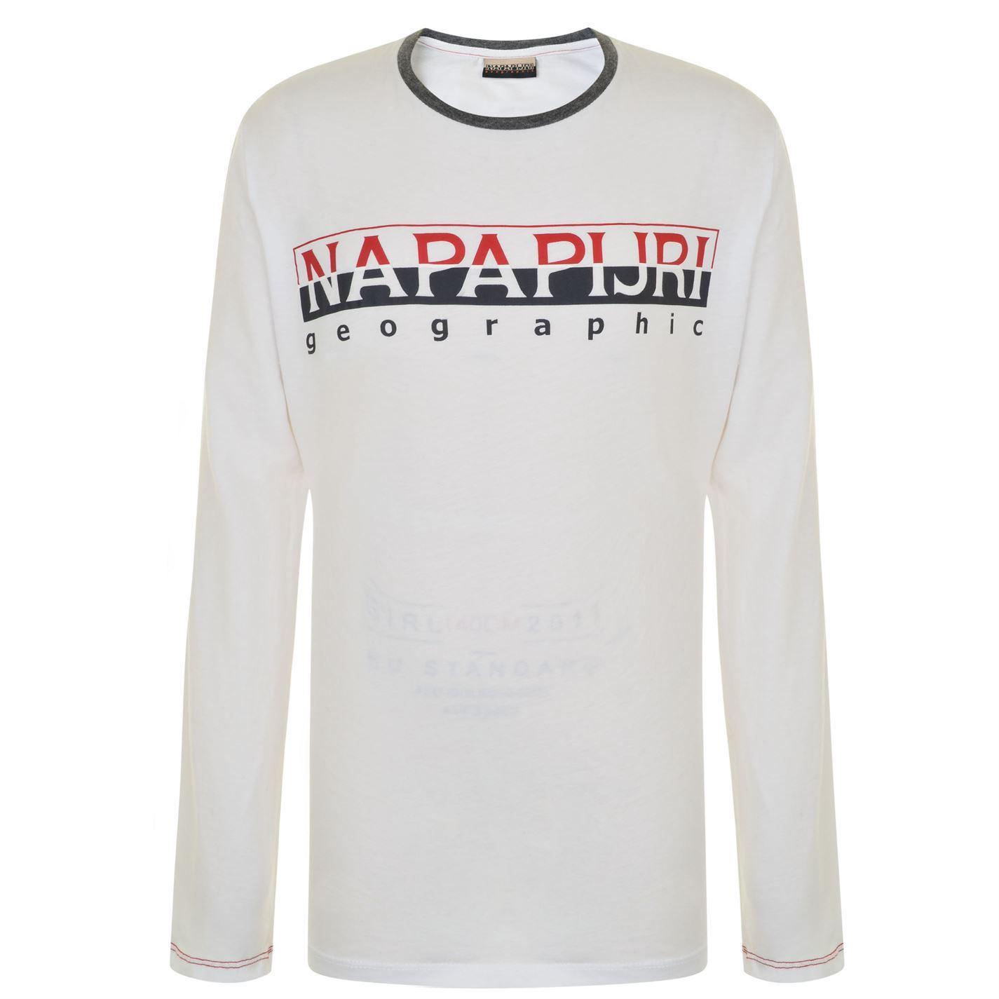 83488a8ccfd6 Details about Kids Boys Napapijri Sabin T Shirt Crew Neck Long Sleeve New